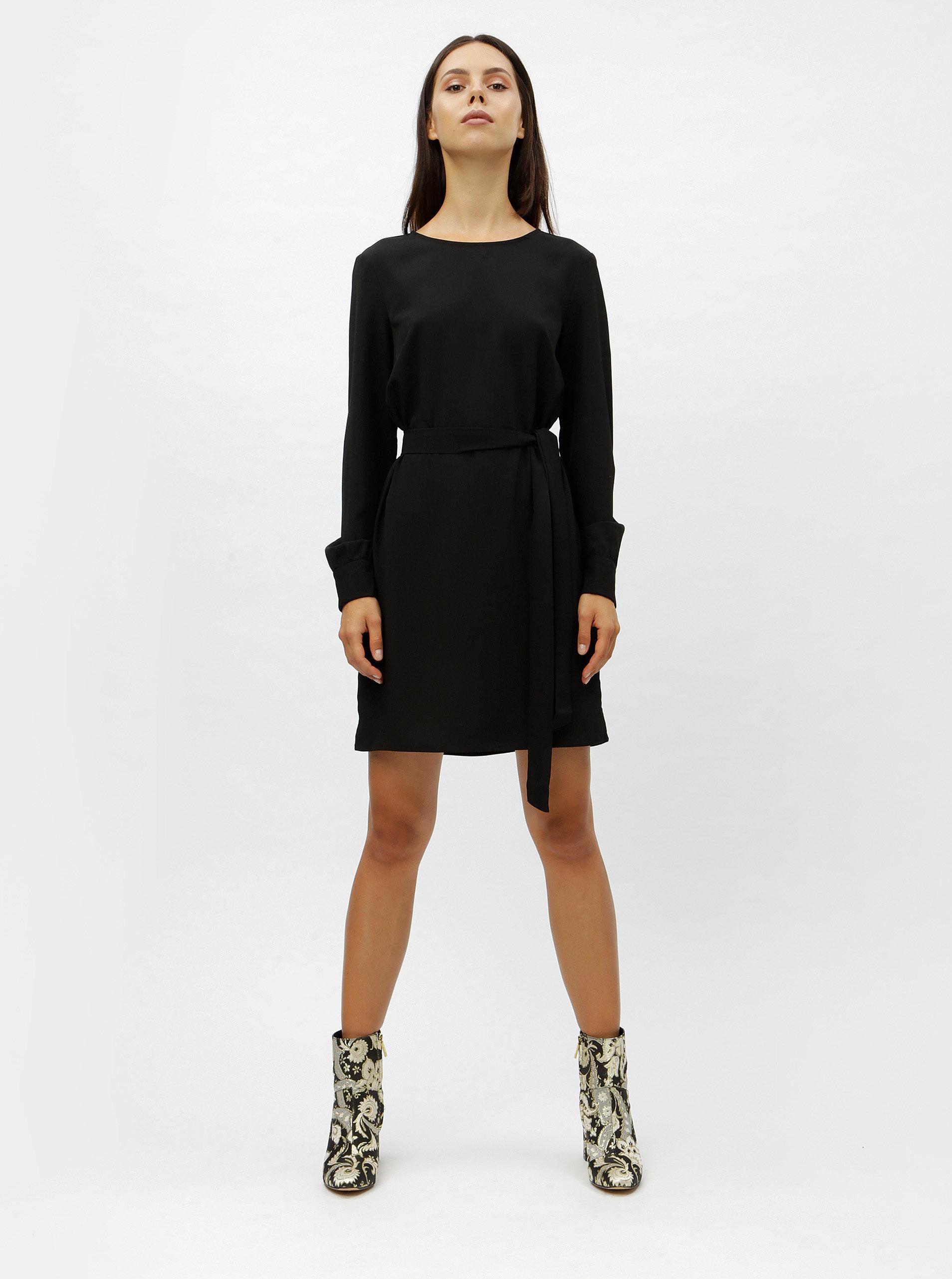 d020254b7da9 Čierne šaty s dlhým rukávom VERO MODA June ...