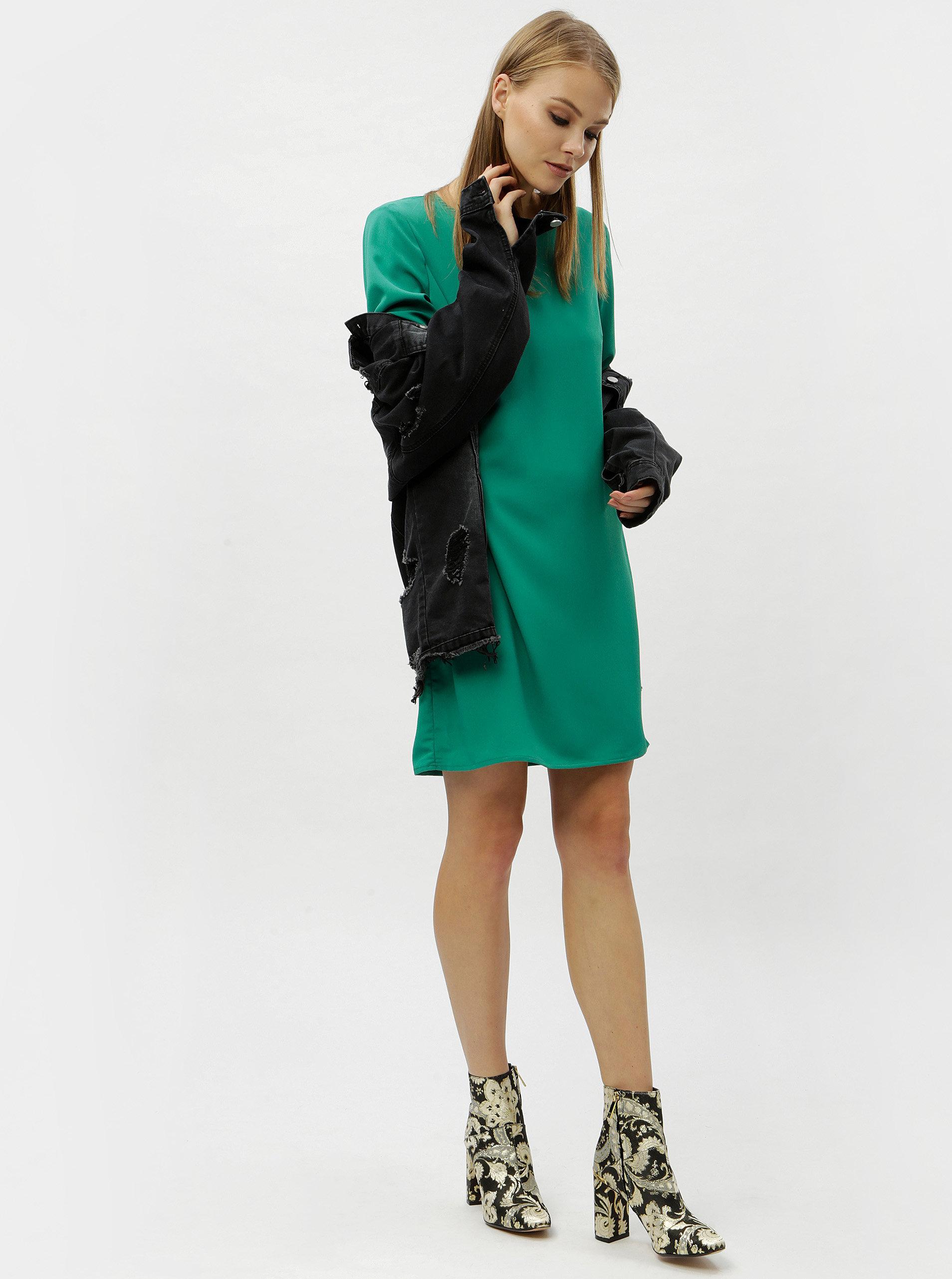 4b8edd9ea0b5 Zelené šaty s dlhým rukávom VERO MODA June ...