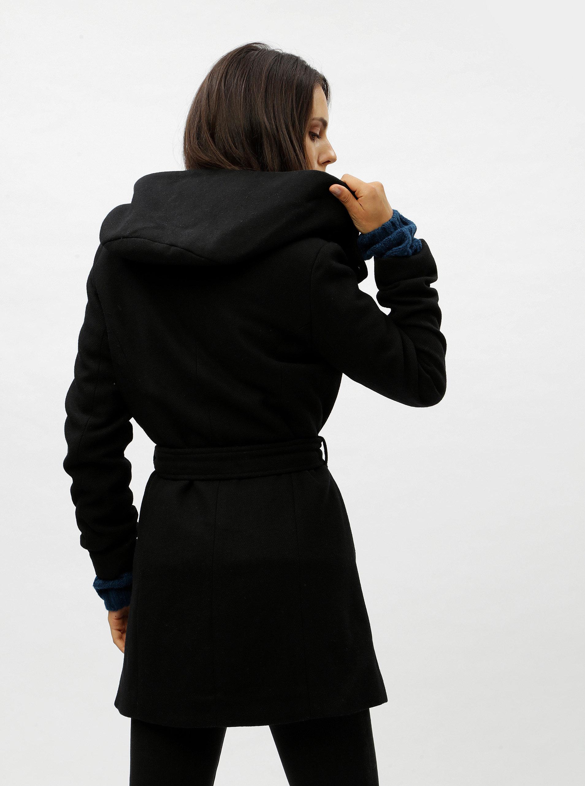 Černý zimní kabát s příměsí vlny VERO MODA Liva ... f2251ca0e37