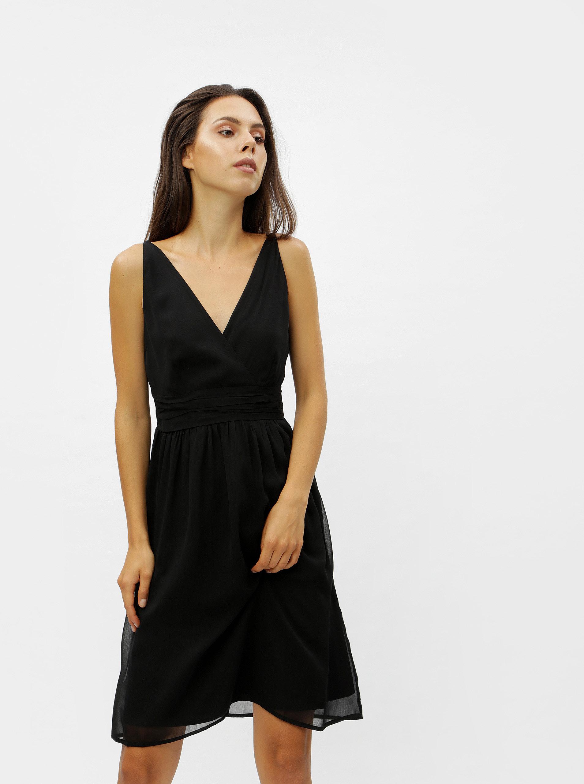 5d6b9bc599fb Čierne šaty na ramienka VERO MODA Josephine ...