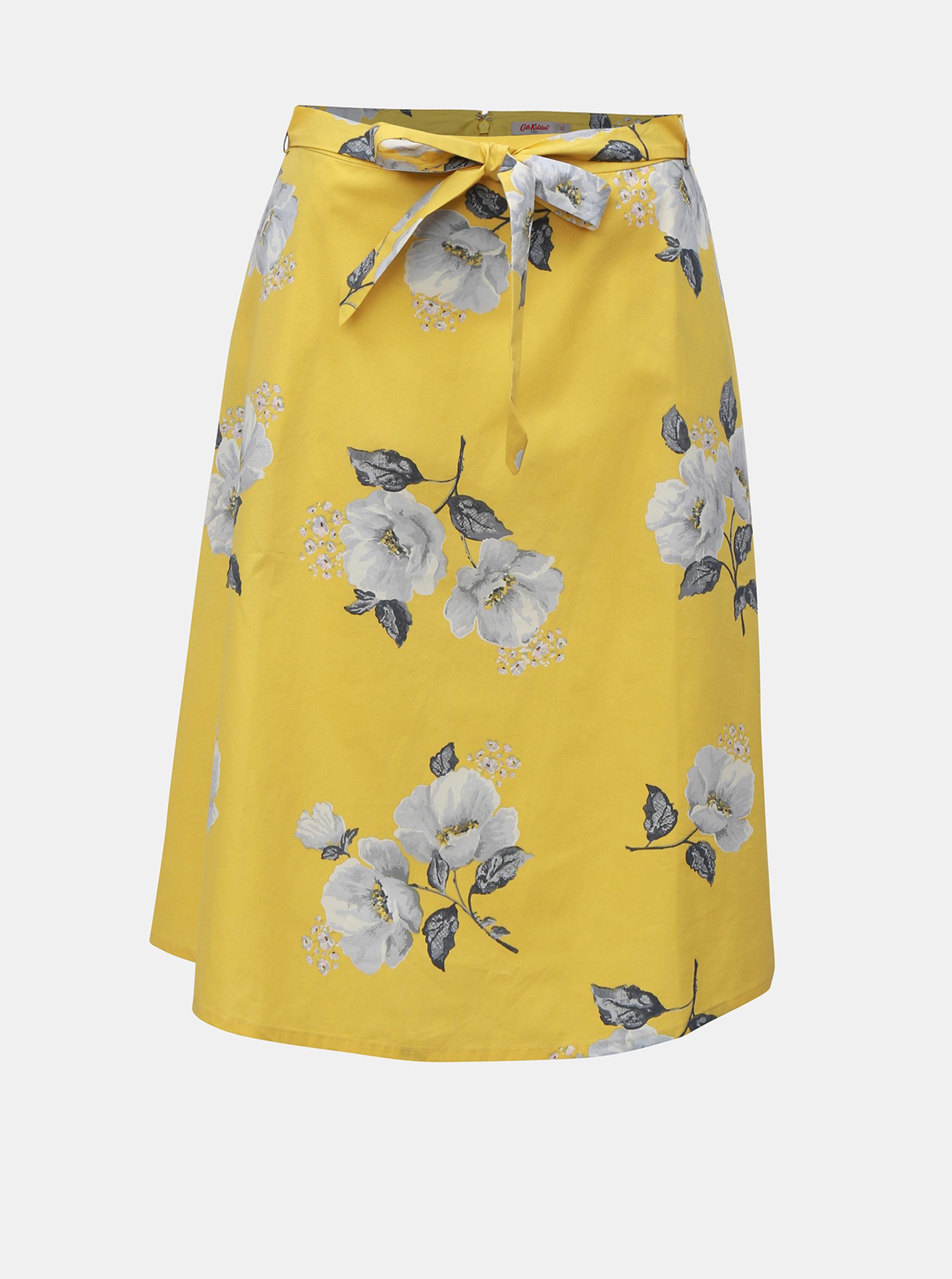 8df2350592a4 Žlutá dámská květovaná sukně Cath Kidston ...
