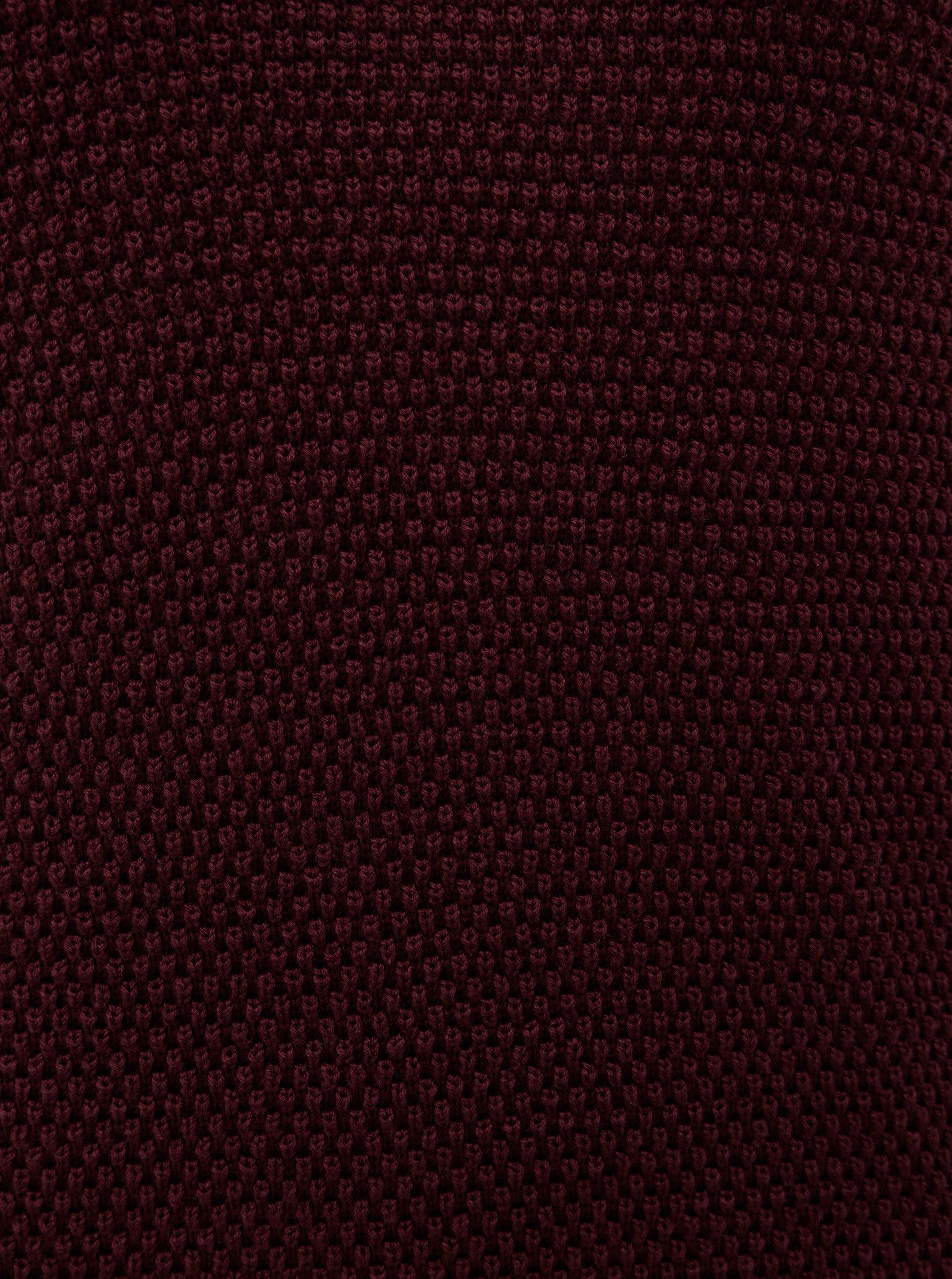 Vínový strukturovaný svetr VILA Chassa