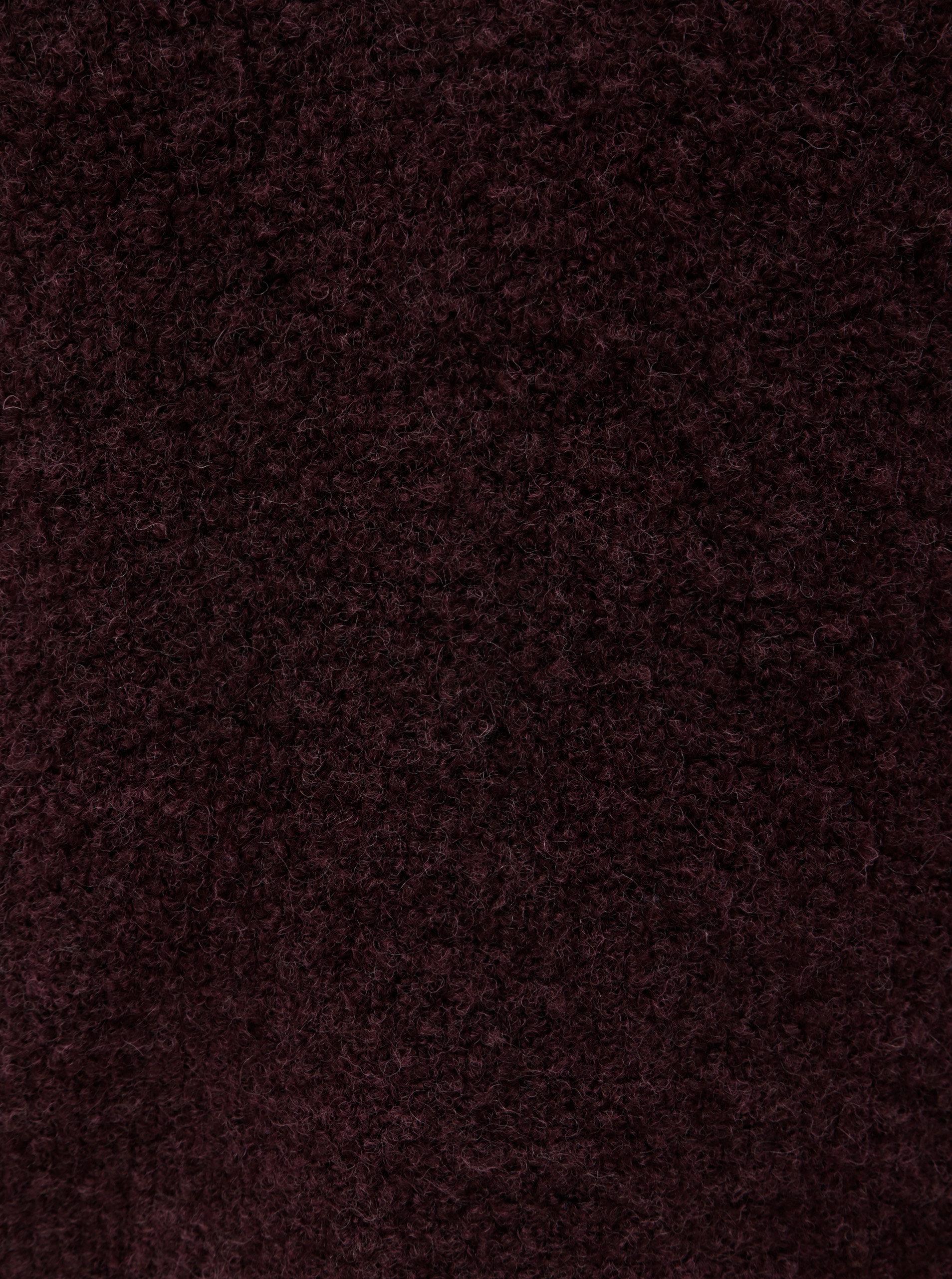 Vínový svetr s příměsí vlny VILA Place ... 374ce35cbb