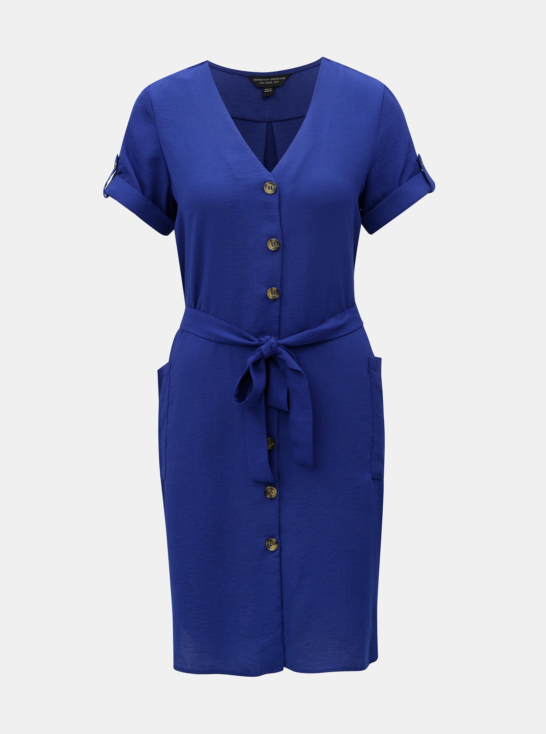 aa7520f85961 Modré košeľové šaty Dorothy Perkins ...