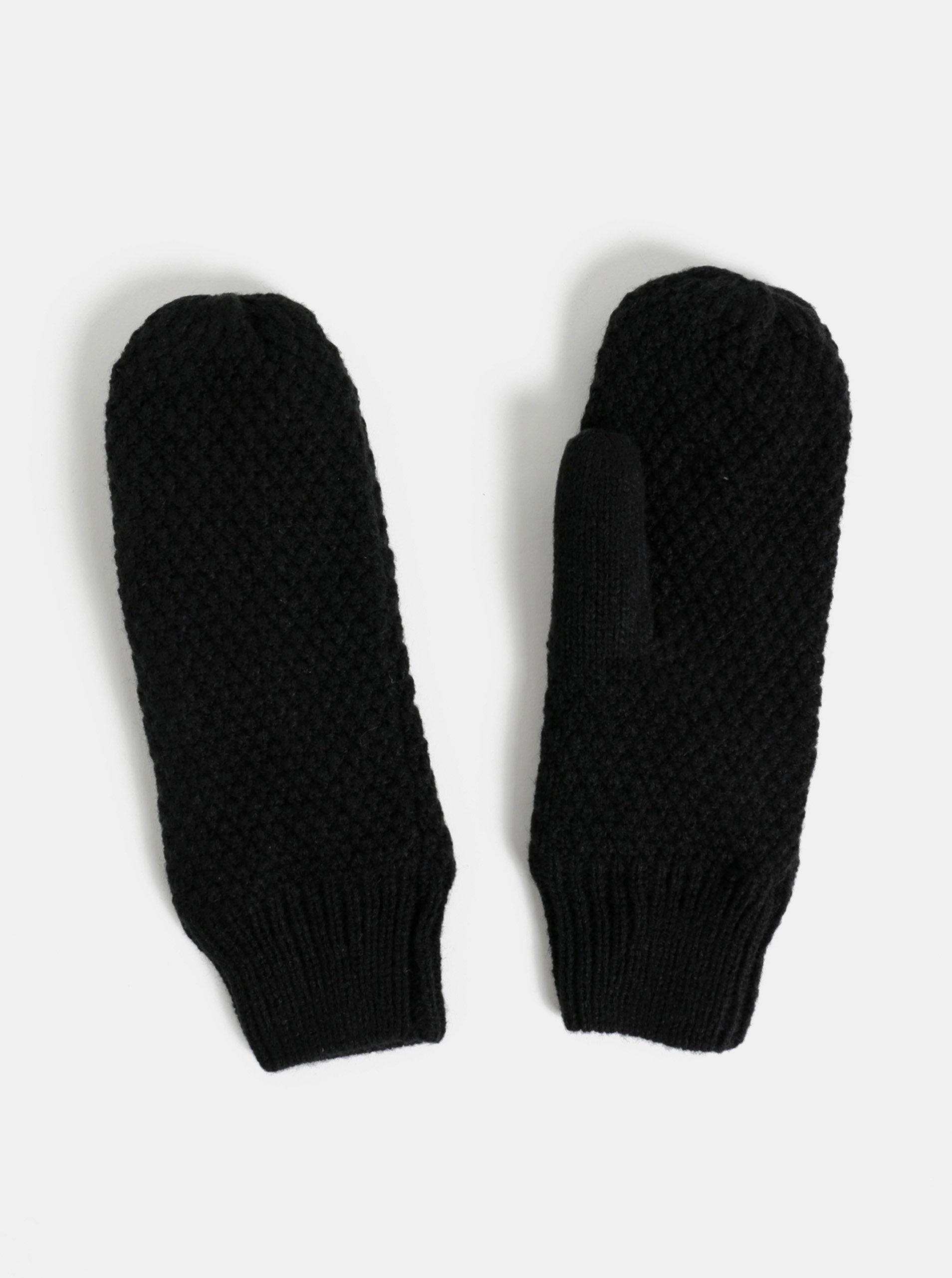 Černé palčáky Pieces Filli
