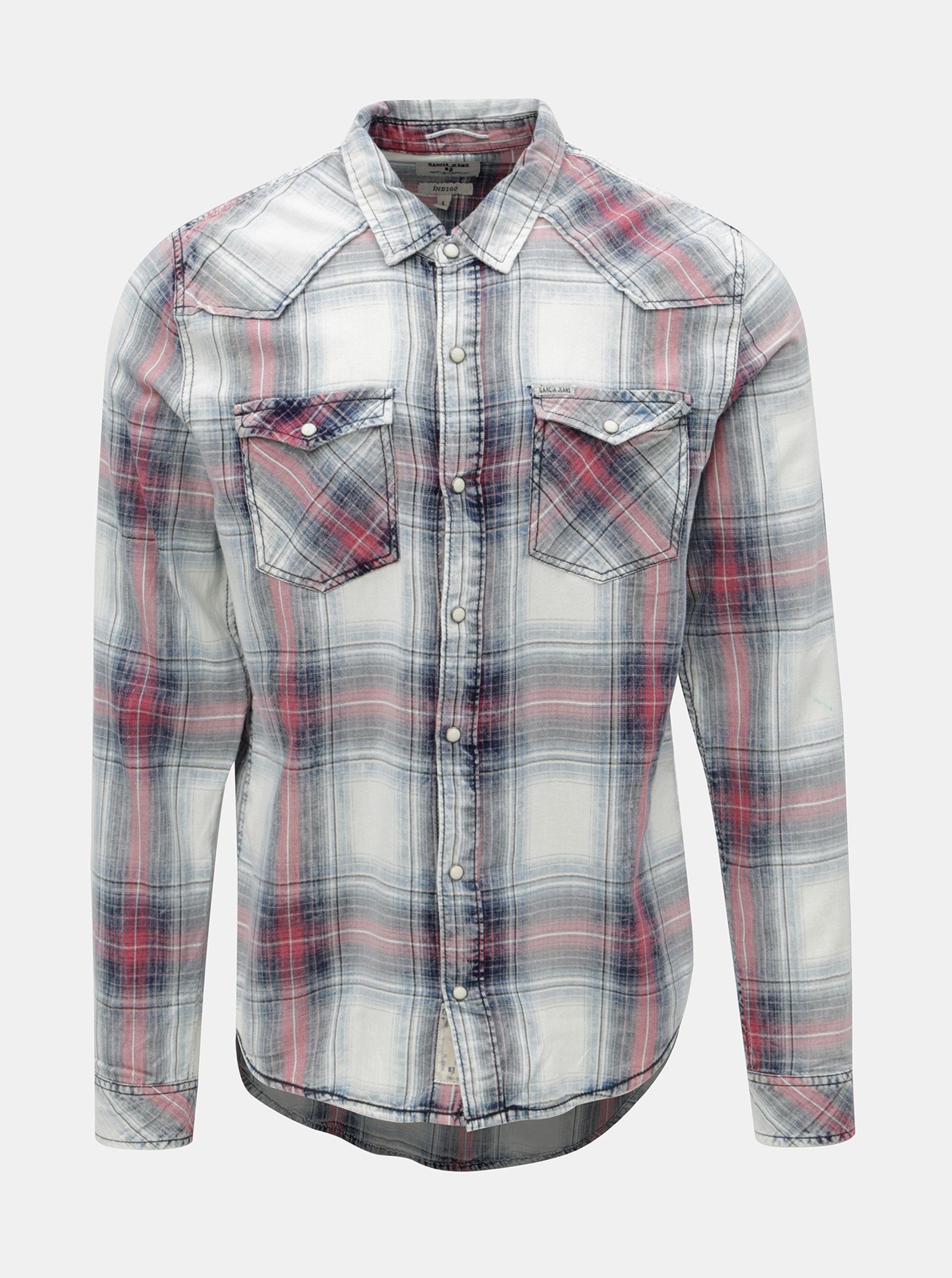 2c0bc97ea5a Krémovo-modrá pánská košile Garcia Jeans
