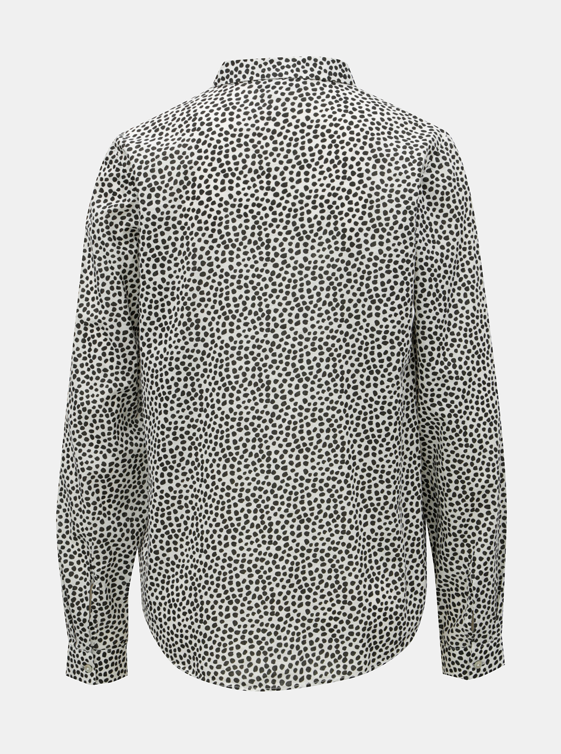 4a99034dca02 Čierno-biela dámska bodkovaná košeľa Garcia Jeans ...