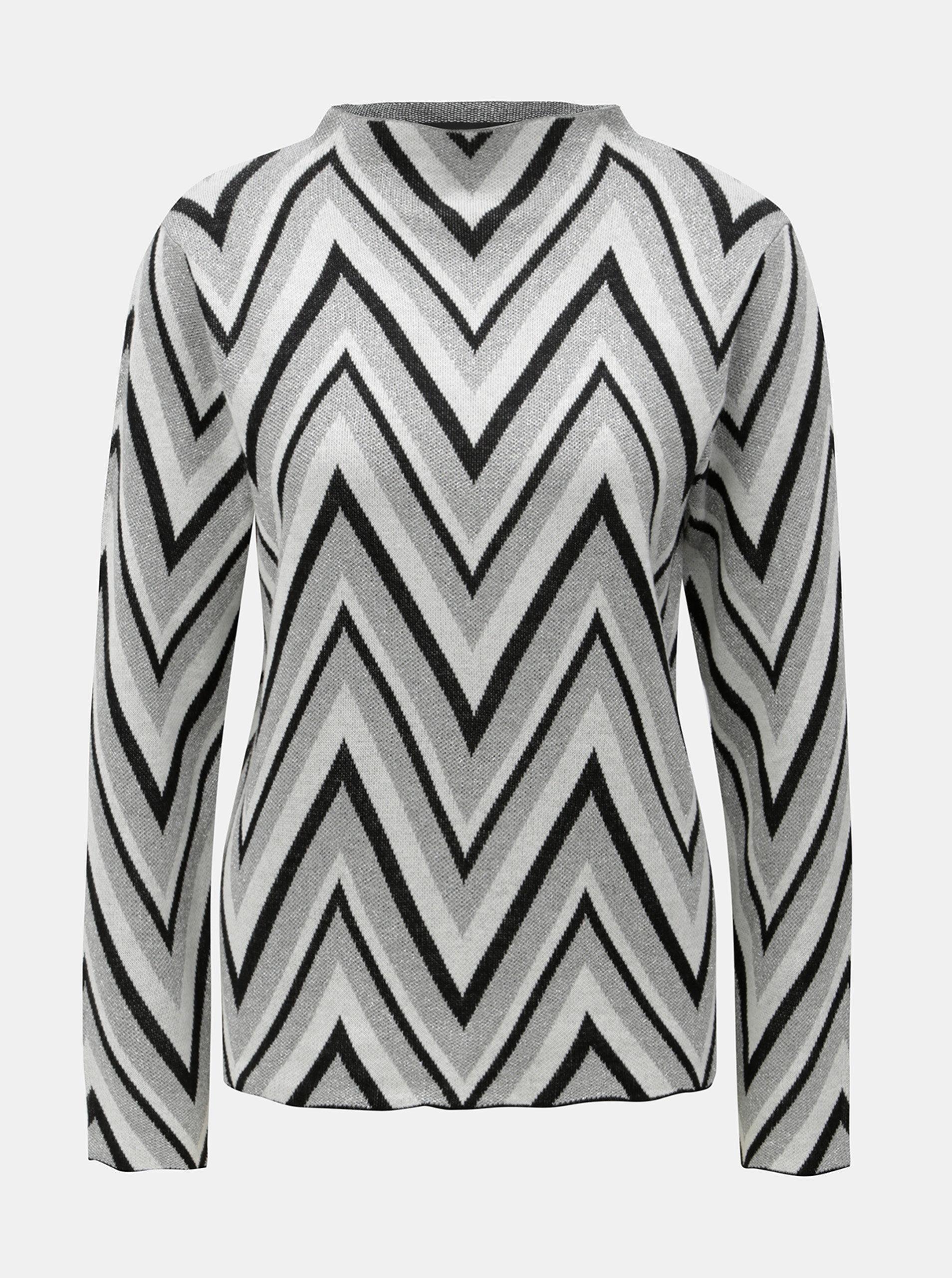 Krémovo-šedý lehký vzorovaný svetr VERO MODA