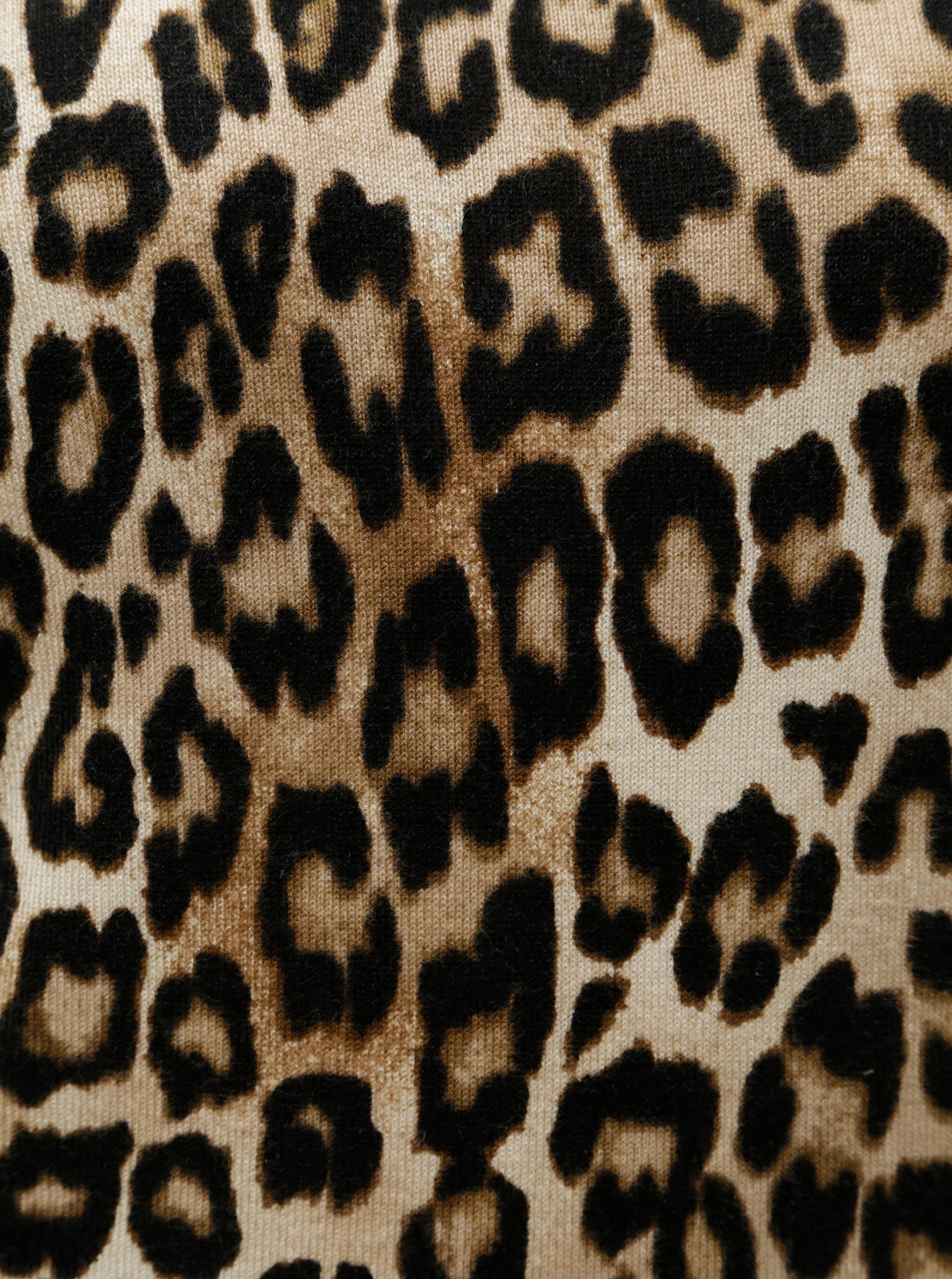 d909a52fa638 Čierno–hnedý sveter s leopardím vzorom Dorothy Perkins ...