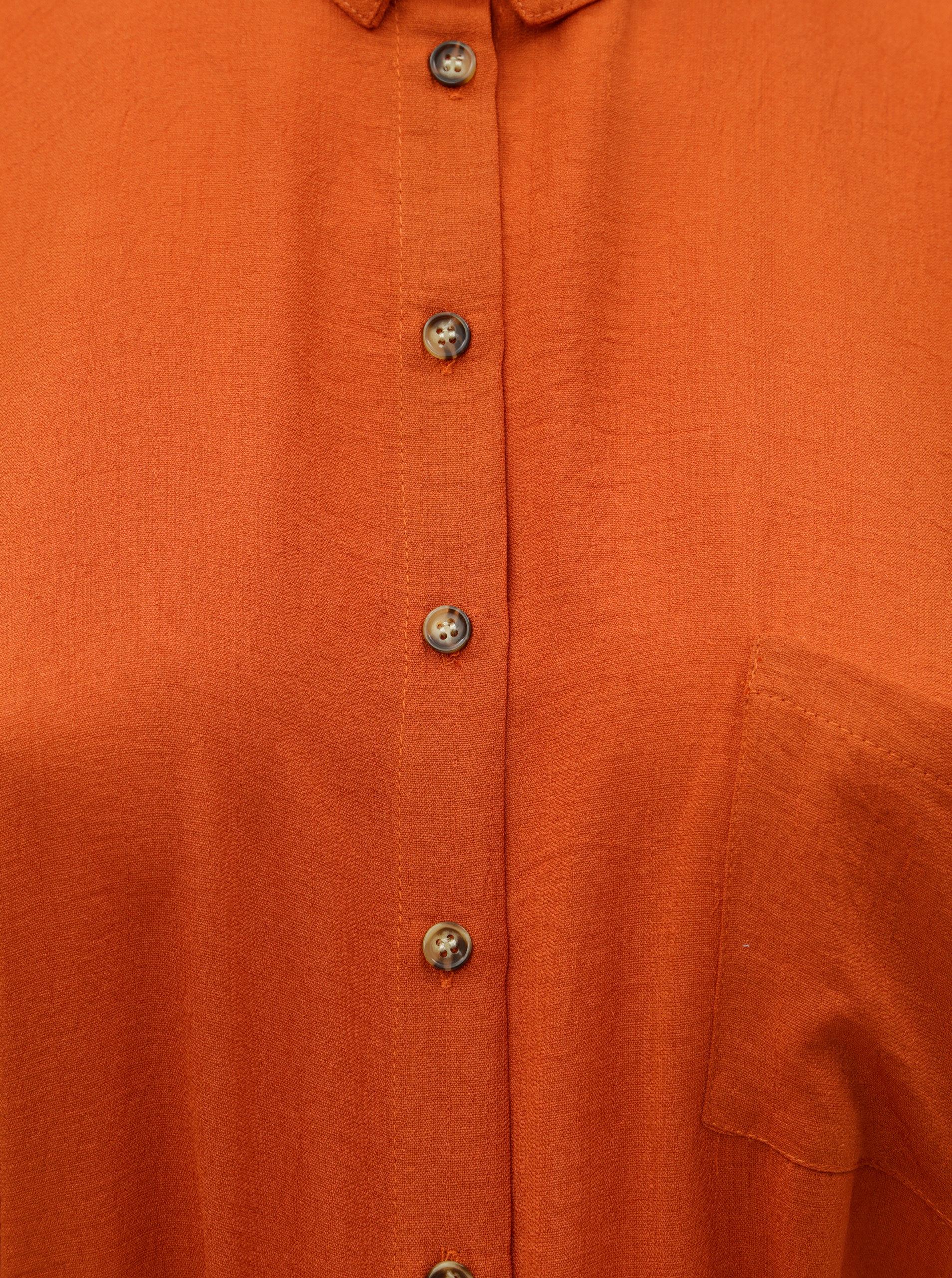 Oranžové košilové šaty Dorothy Perkins Curve