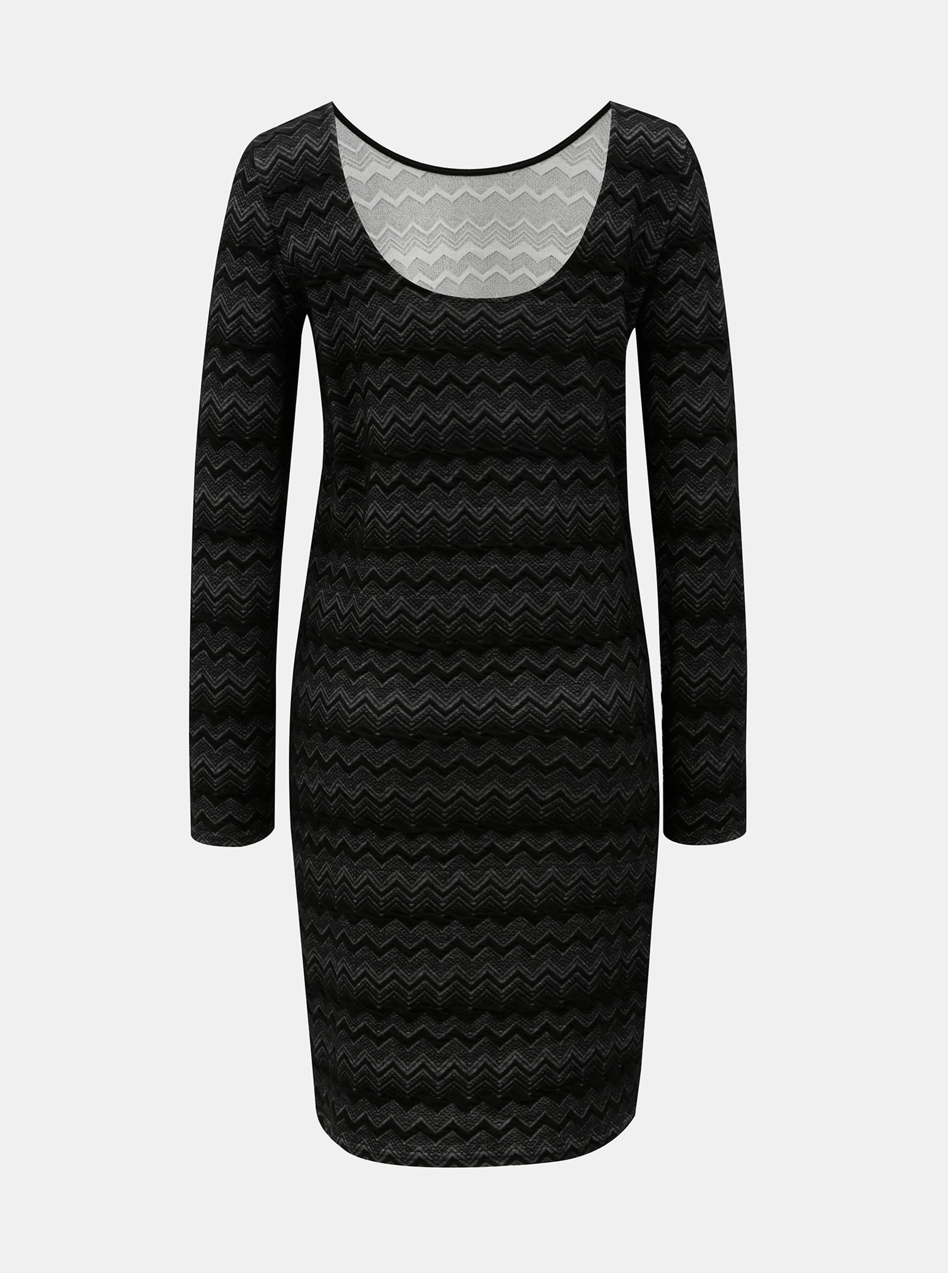 Černé vzorované pouzdrové šaty ONLY ... 1b2e47c996