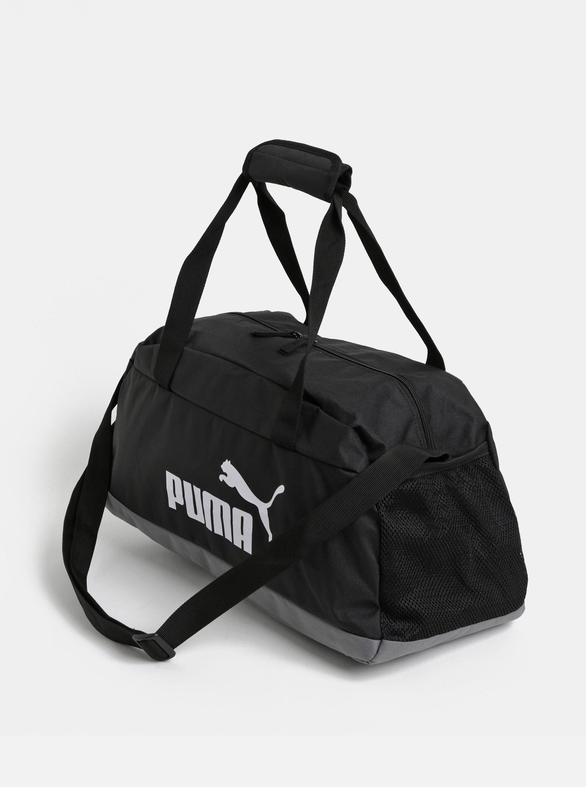 56fbd6a783 Čierna športová taška s potlačou Puma ...