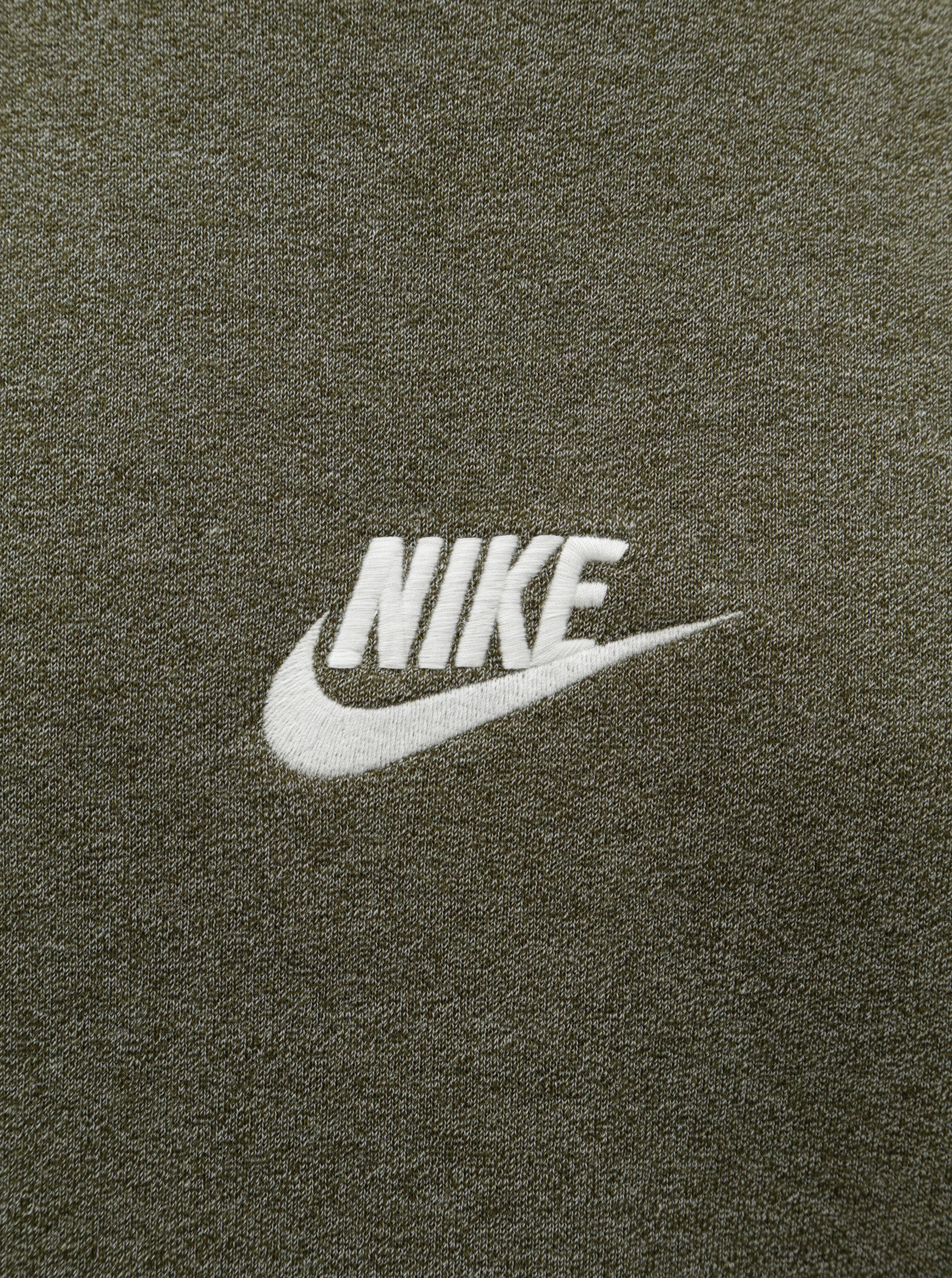 5e1840a3776b Kaki pánska melírovaná mikina s výšivkou loga Nike Heritage ...