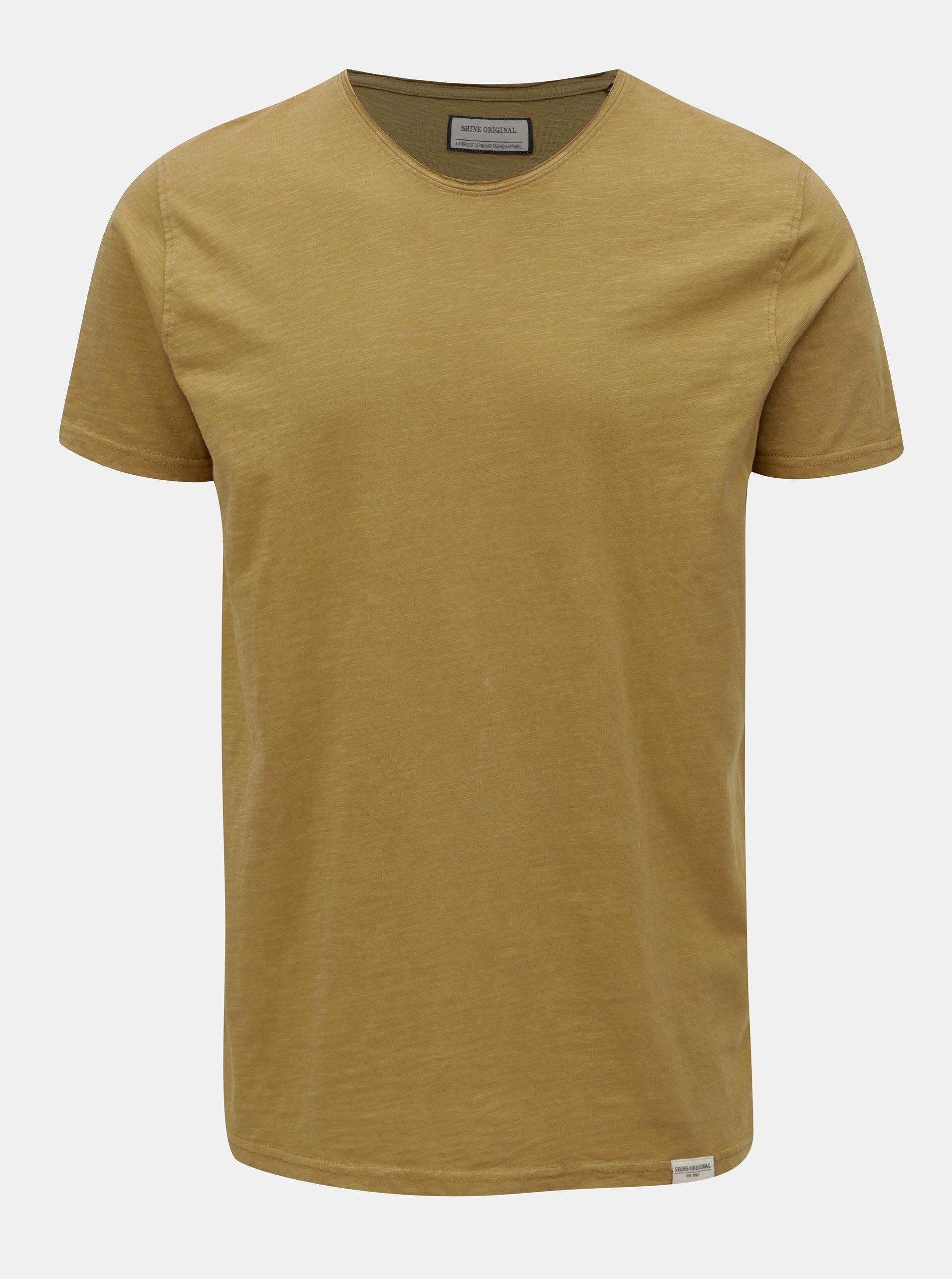 e08d15ec486b Horčicové basic tričko s krátkym rukávom Shine Original ...