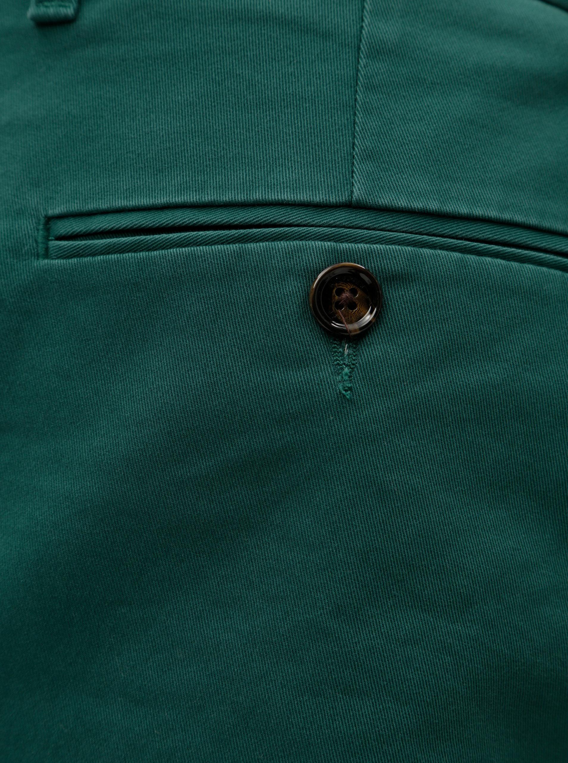 a7682cc7439 Tmavě zelené pánské straight fit chino kalhoty Tommy Hilfiger Denton ...
