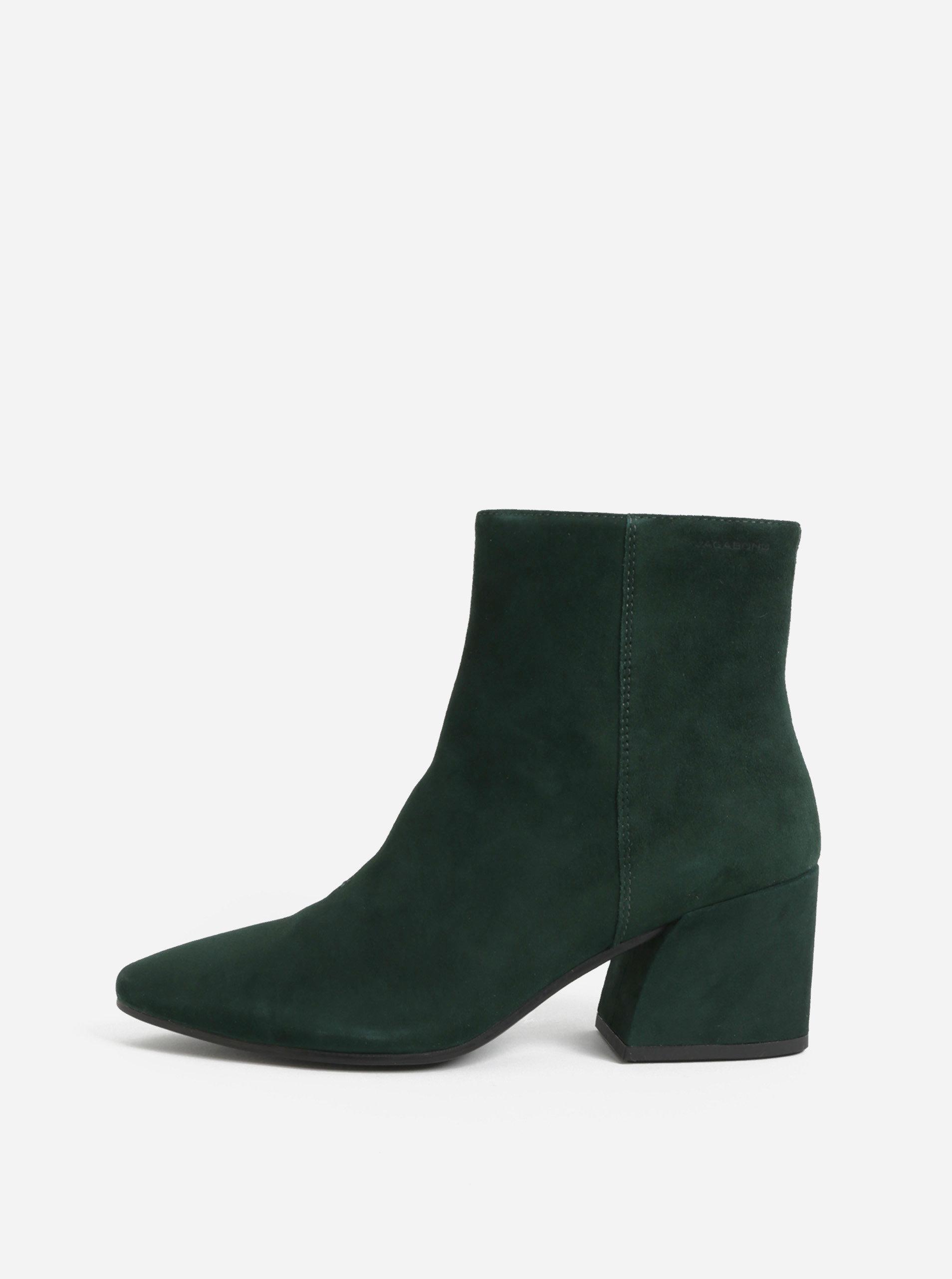 19a785c6ee Zelené dámske semišové členkové topánky Vagabond Olivia ...