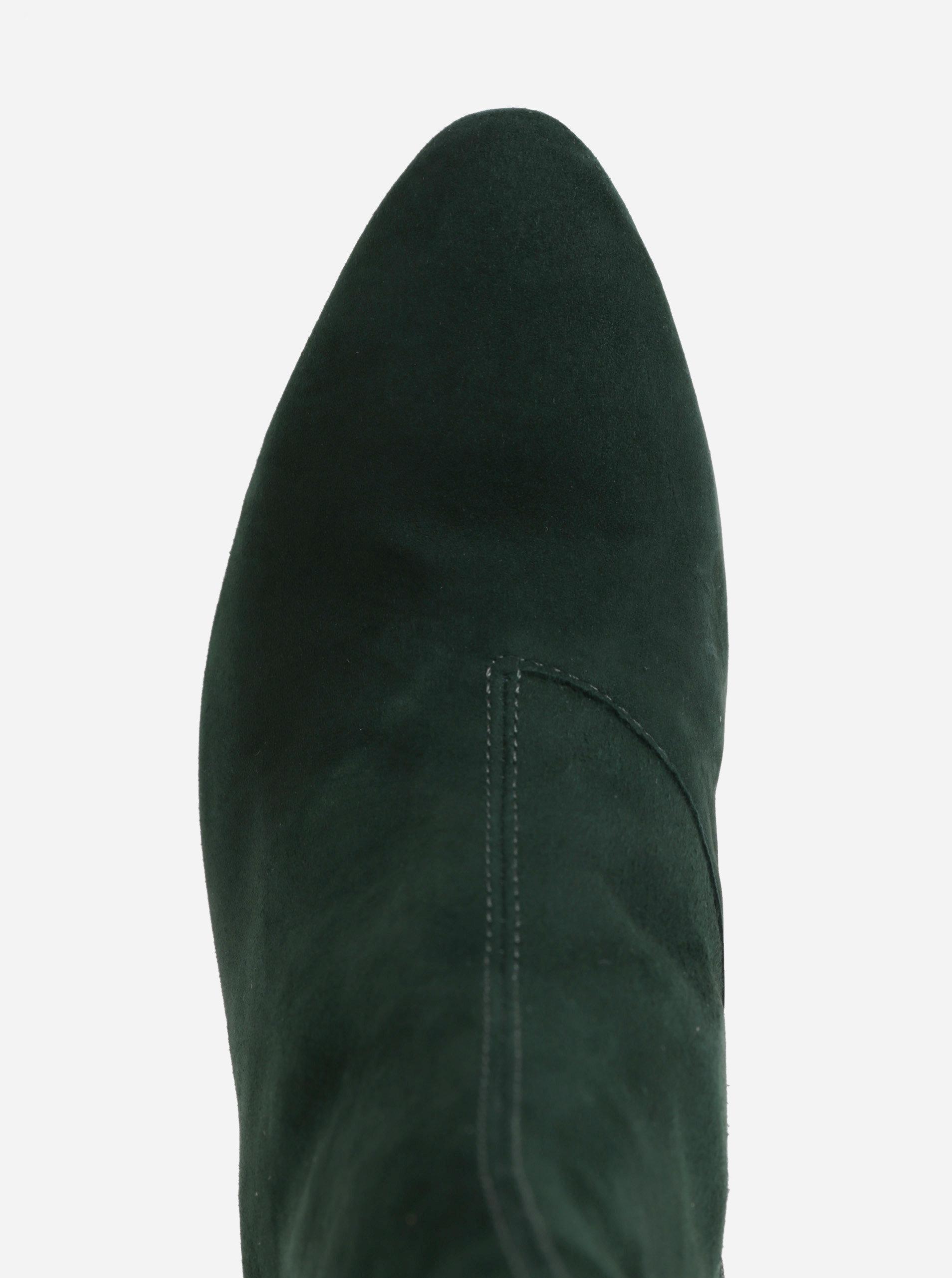 91e03bd8a5 Zelené dámske semišové členkové topánky Vagabond Olivia ...