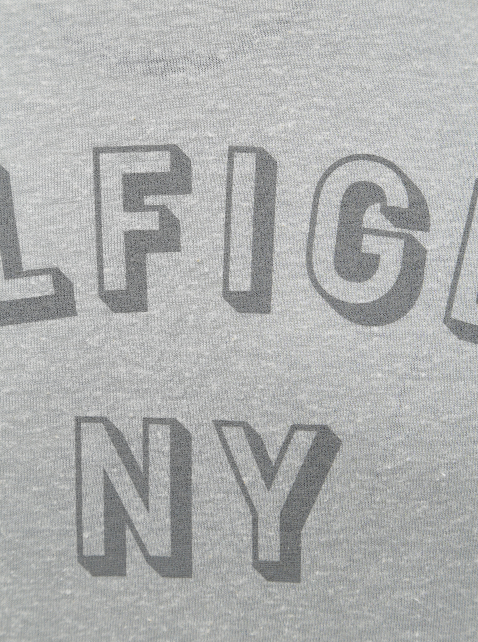 Sivé pánske melírované tričko s potlačou Tommy Hilfiger ... 37604df7838