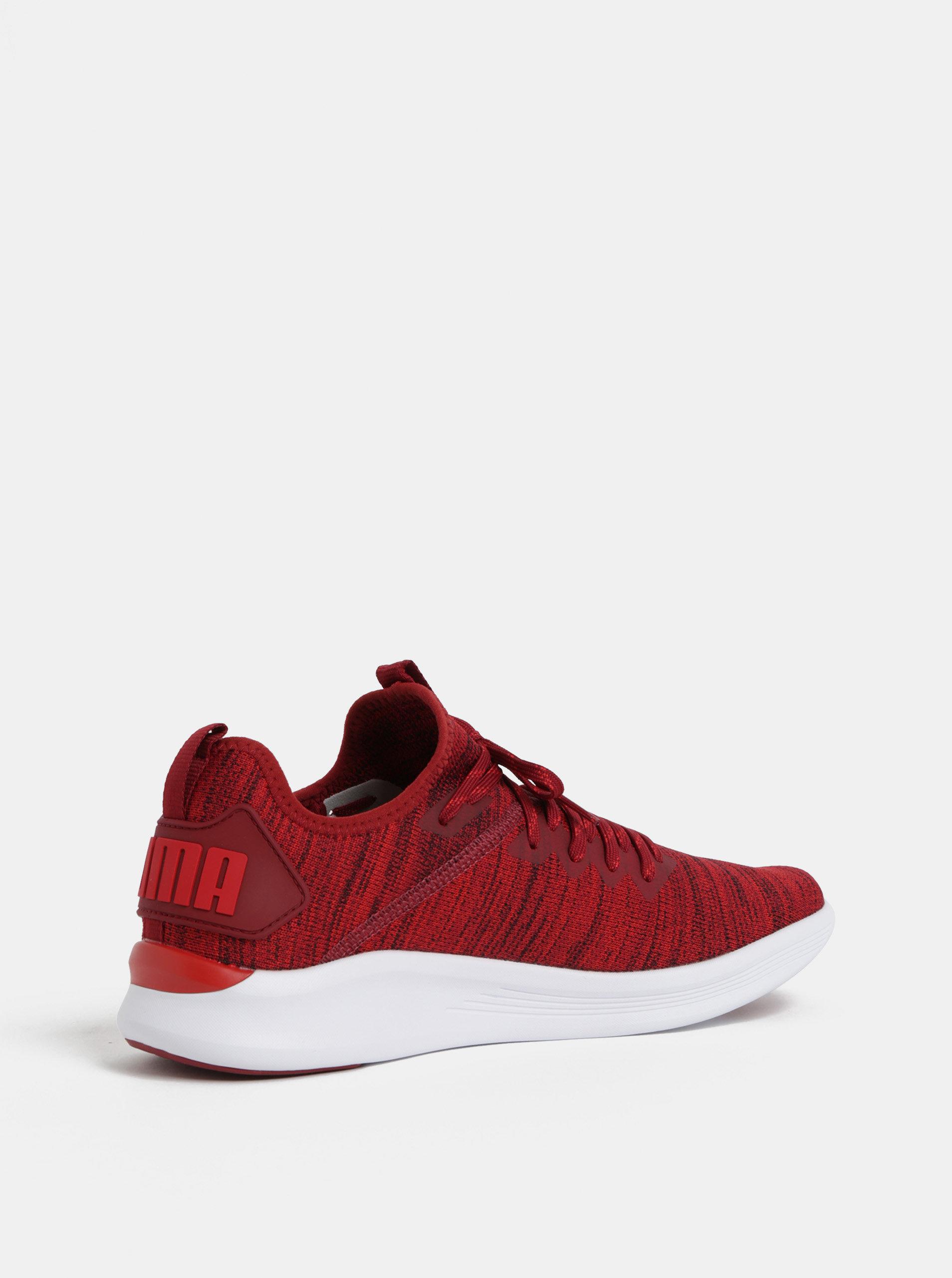 Červené melírované pánske tenisky Puma Ignite Flash evoKnit ... c6b9671833d
