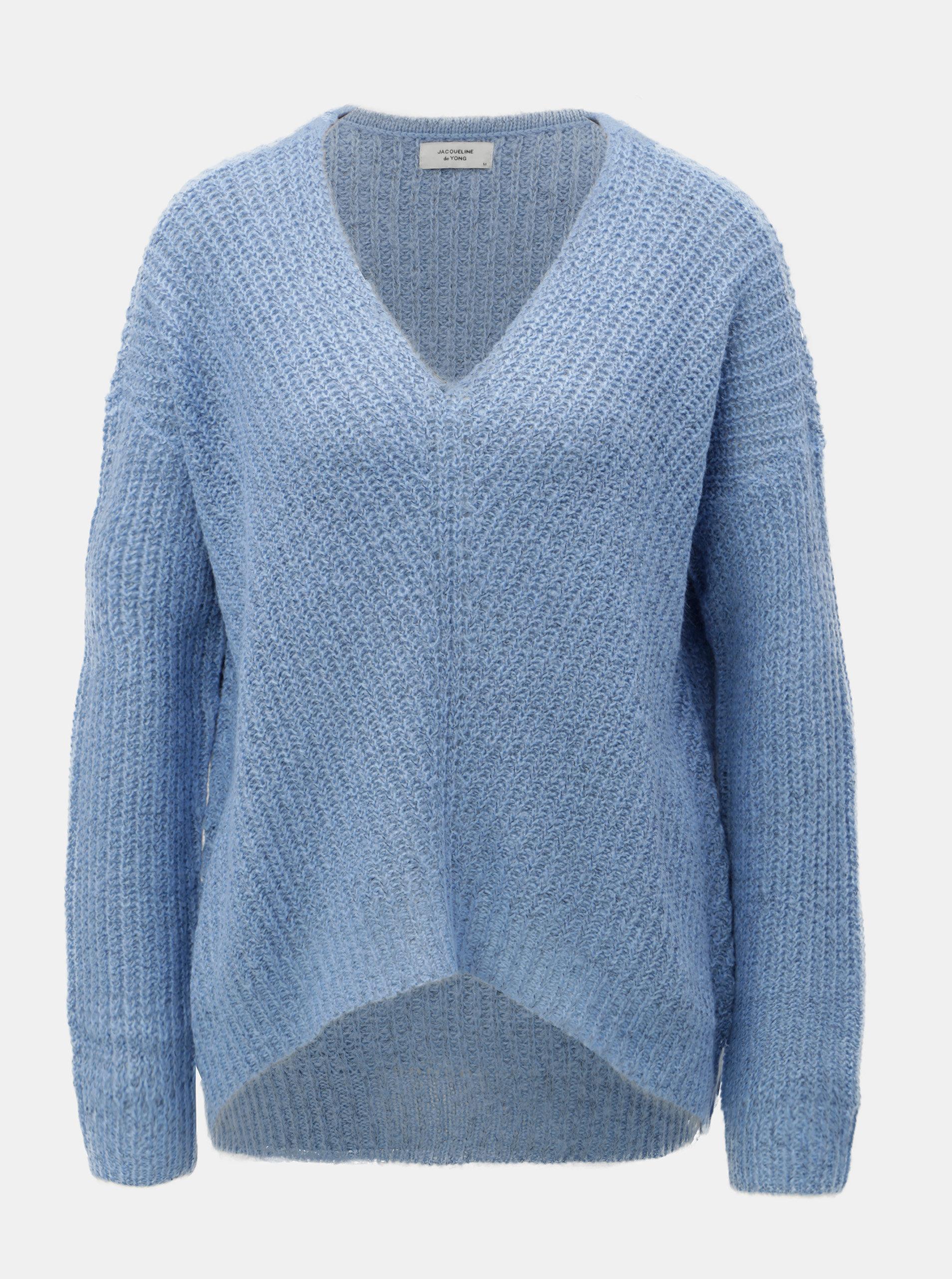 cfce37676f07 Modrý pletený sveter Jacqueline de Yong Megan ...