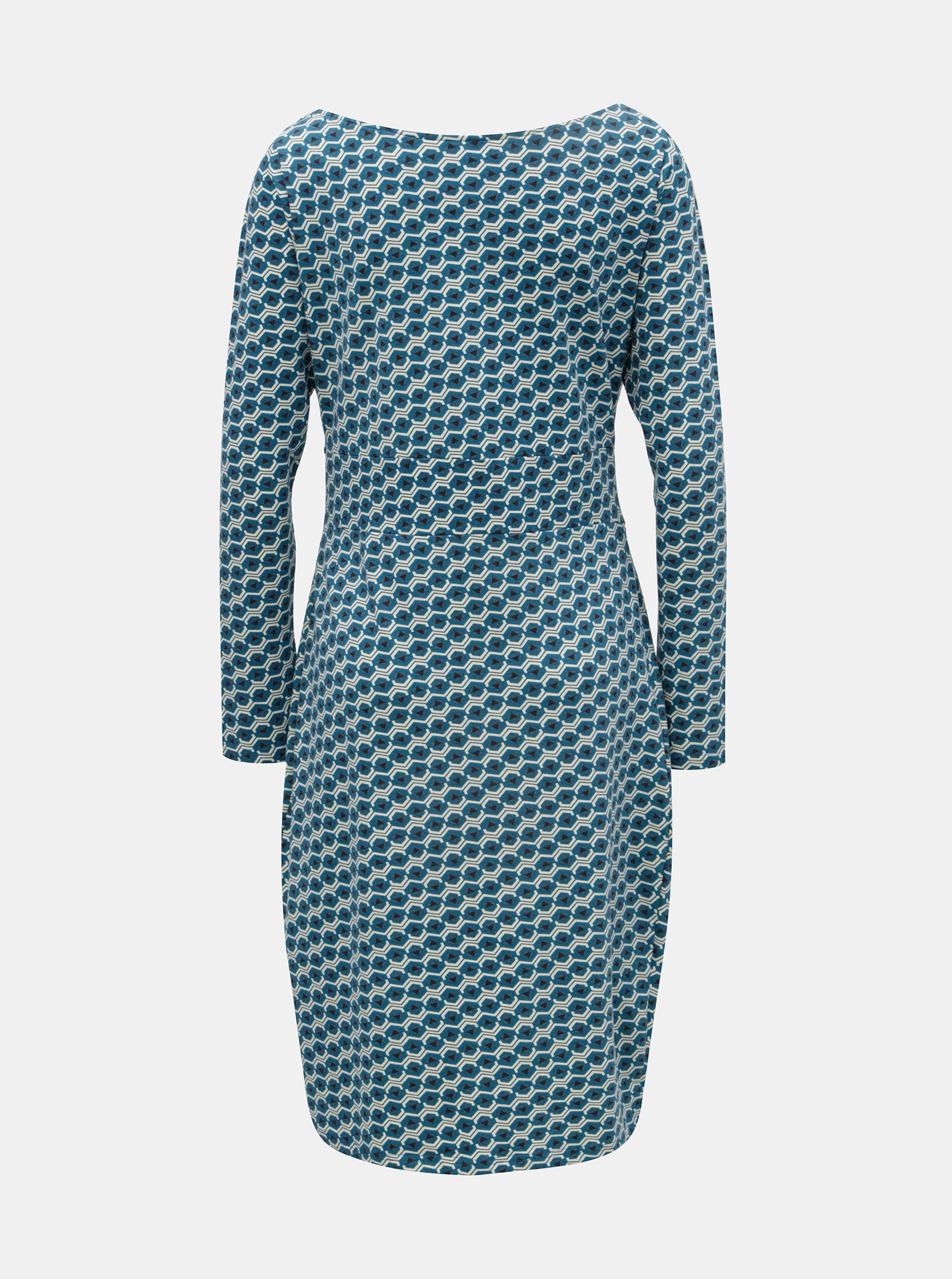 d4b3084a299b Tyrkysové vzorované šaty Tranquillo Mimi ...