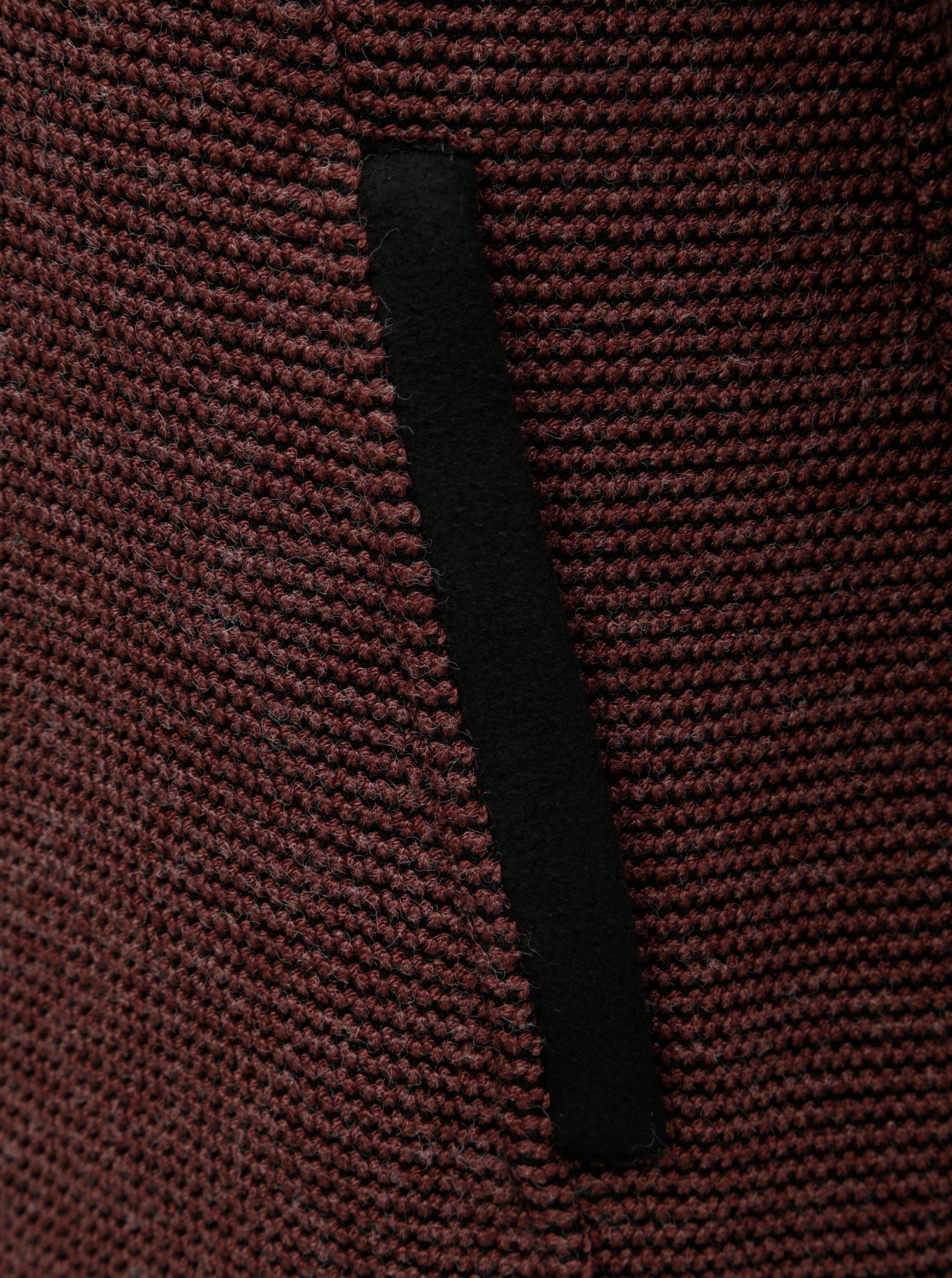 Vínový dámsky melírovaný kabát s rolákom killtec ... dba0fb87208