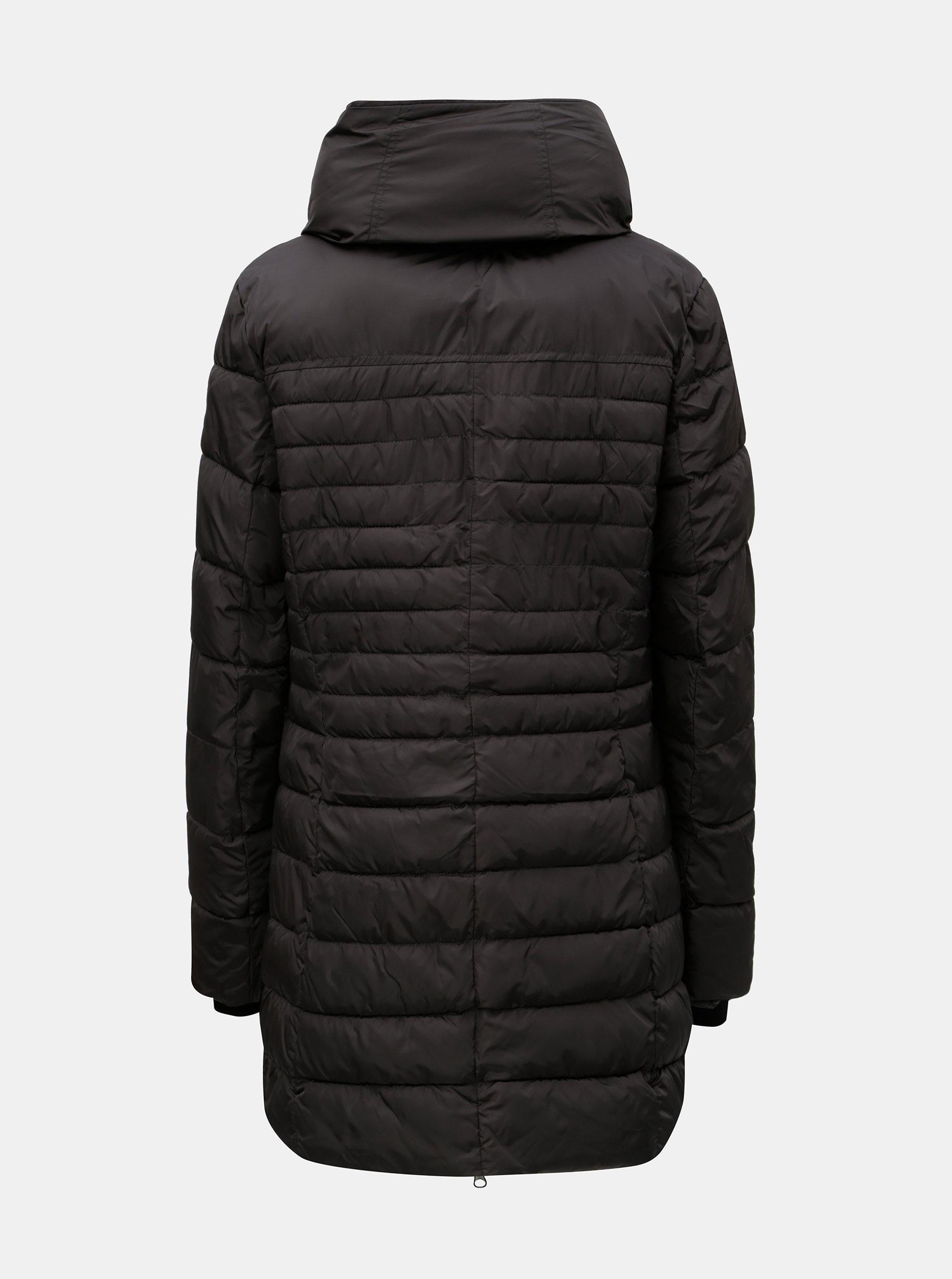 2d49281533 Čierna dámska prešívaná dlhá bunda killtec ...
