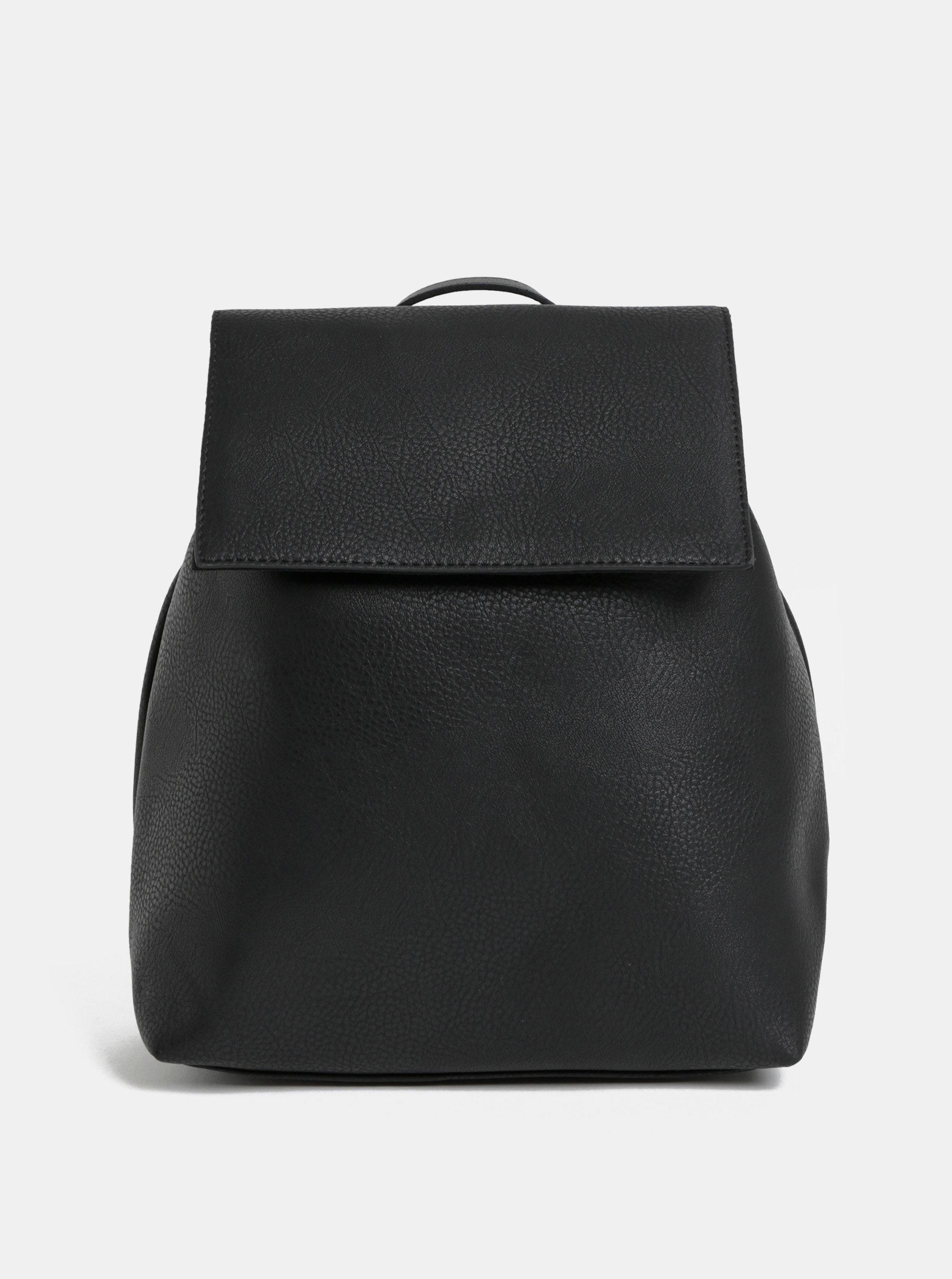 Černý elegantní vakový batoh Pieces