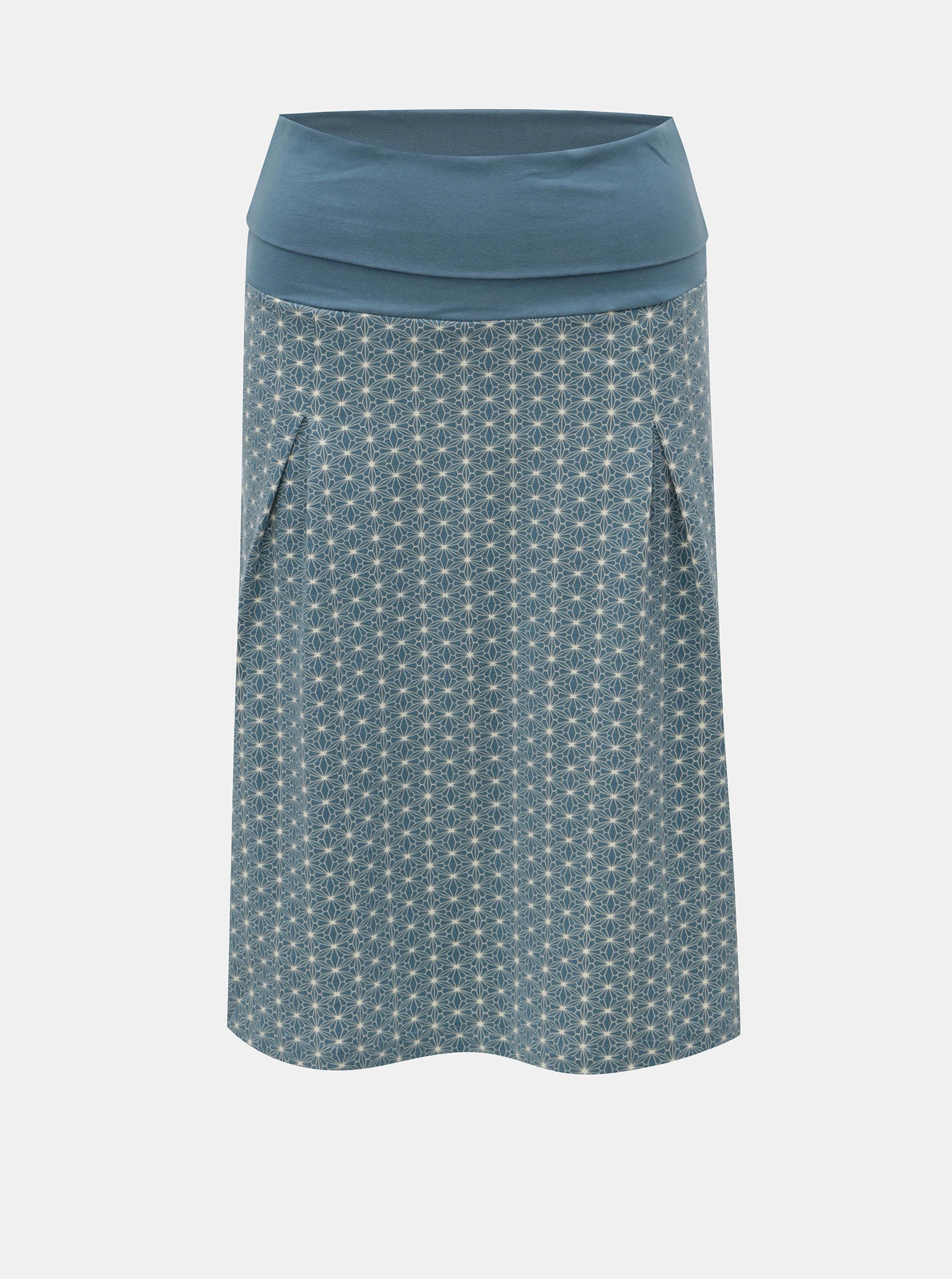 Modrá vzorovaná sukně Tranquillo Carman