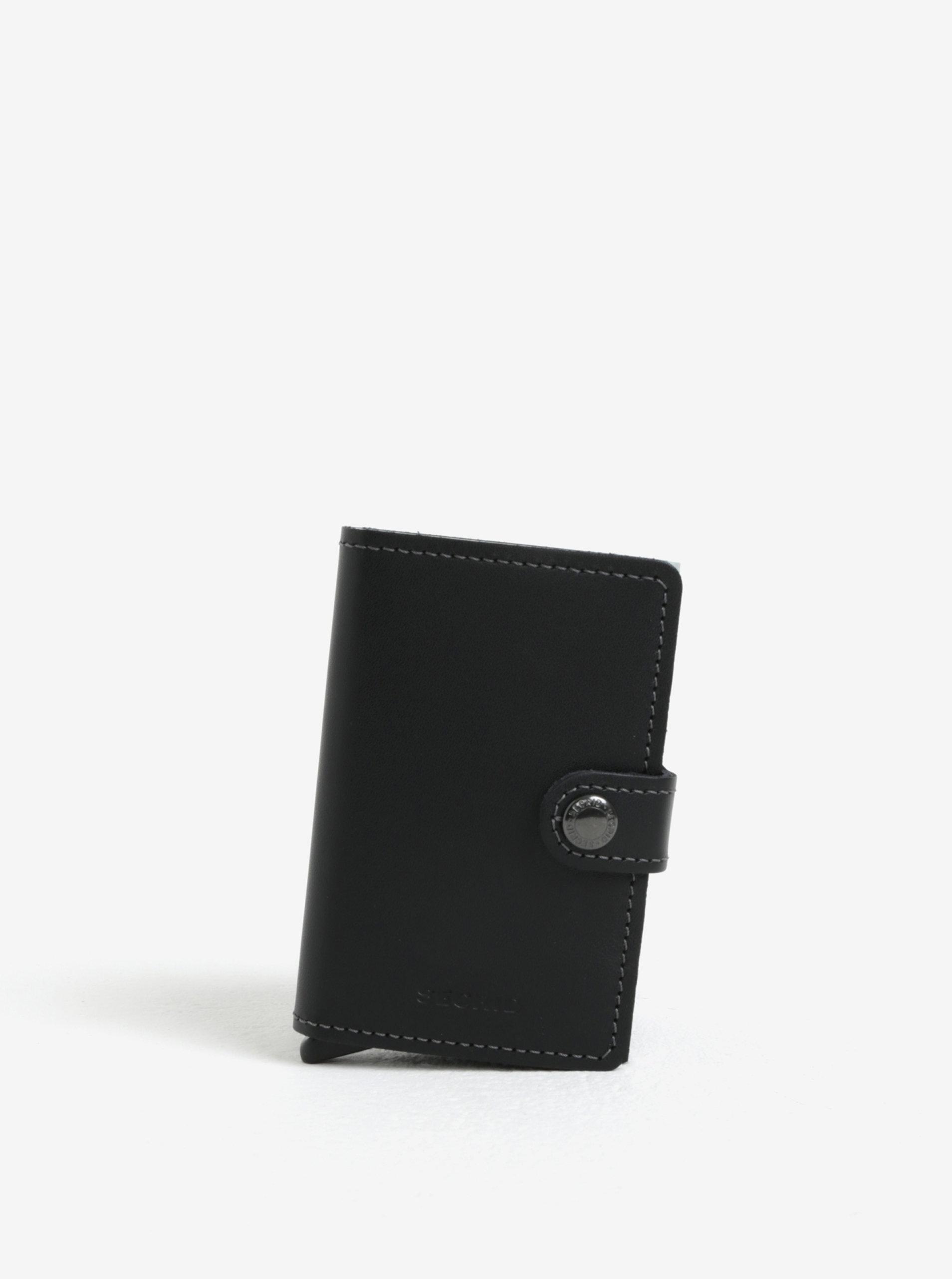 Černá pánská kožená peněženka s hliníkovým pouzdrem s RFID Secrid Miniwallet