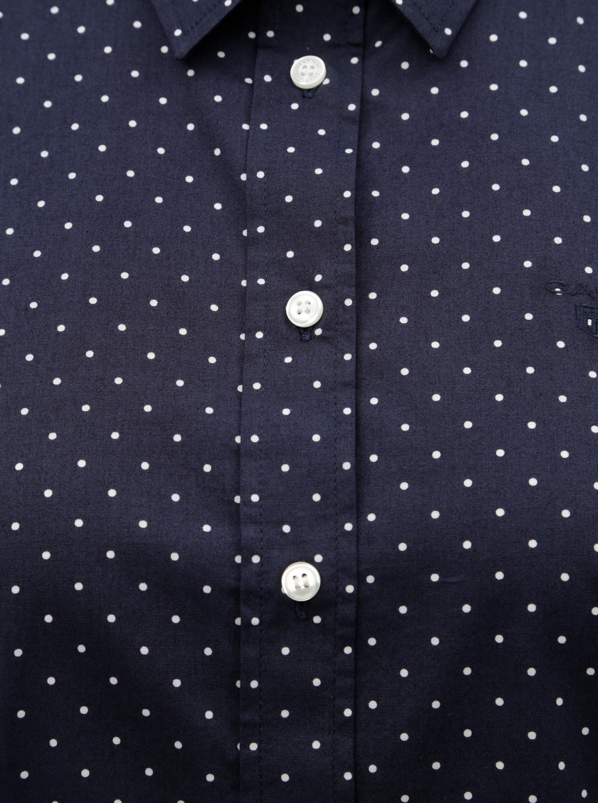 Tmavě modrá dámská puntíkovaná košile GANT ... f1b341e3d5