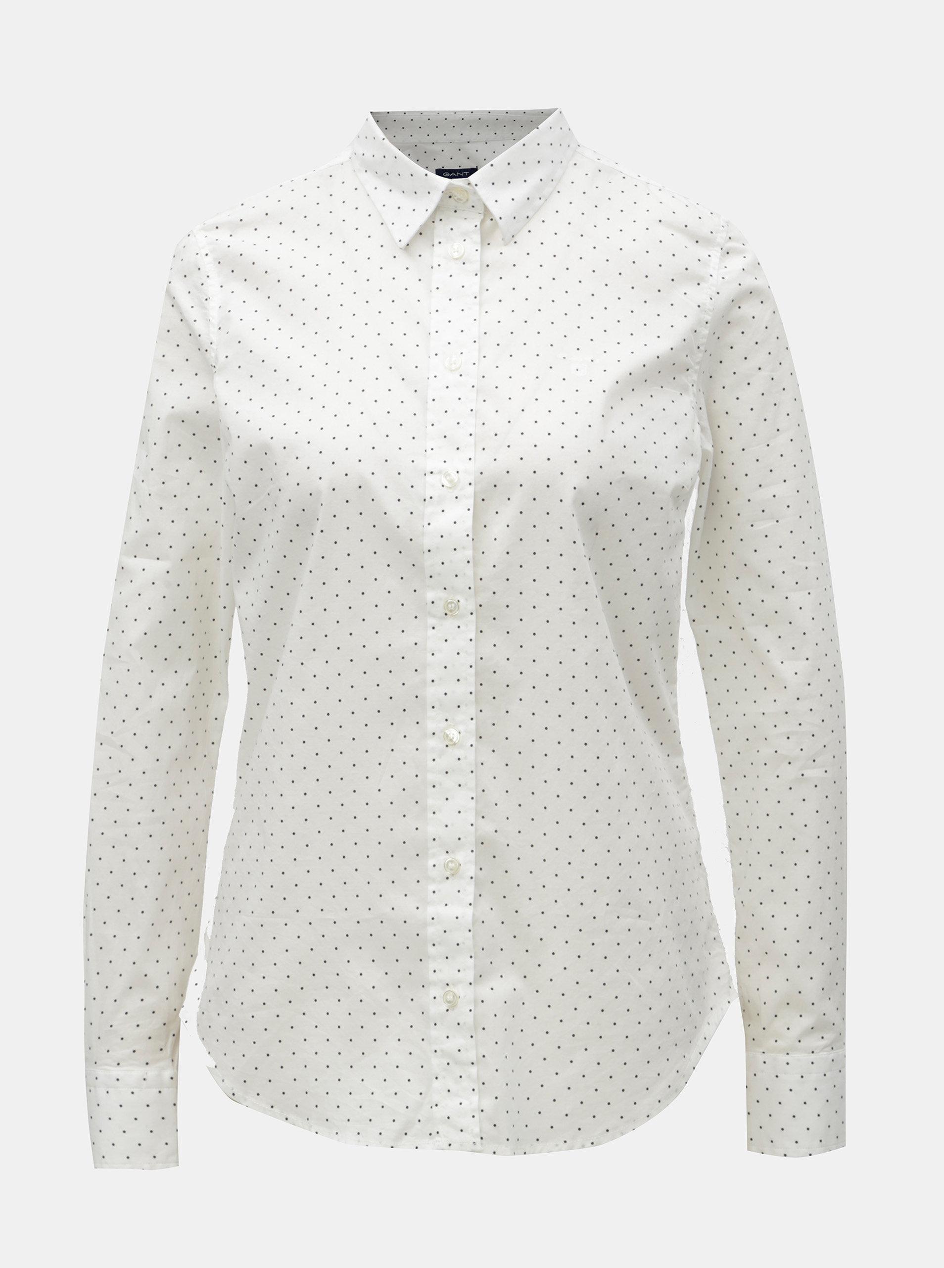 Bílá dámská puntíkovaná košile GANT a302a79c78