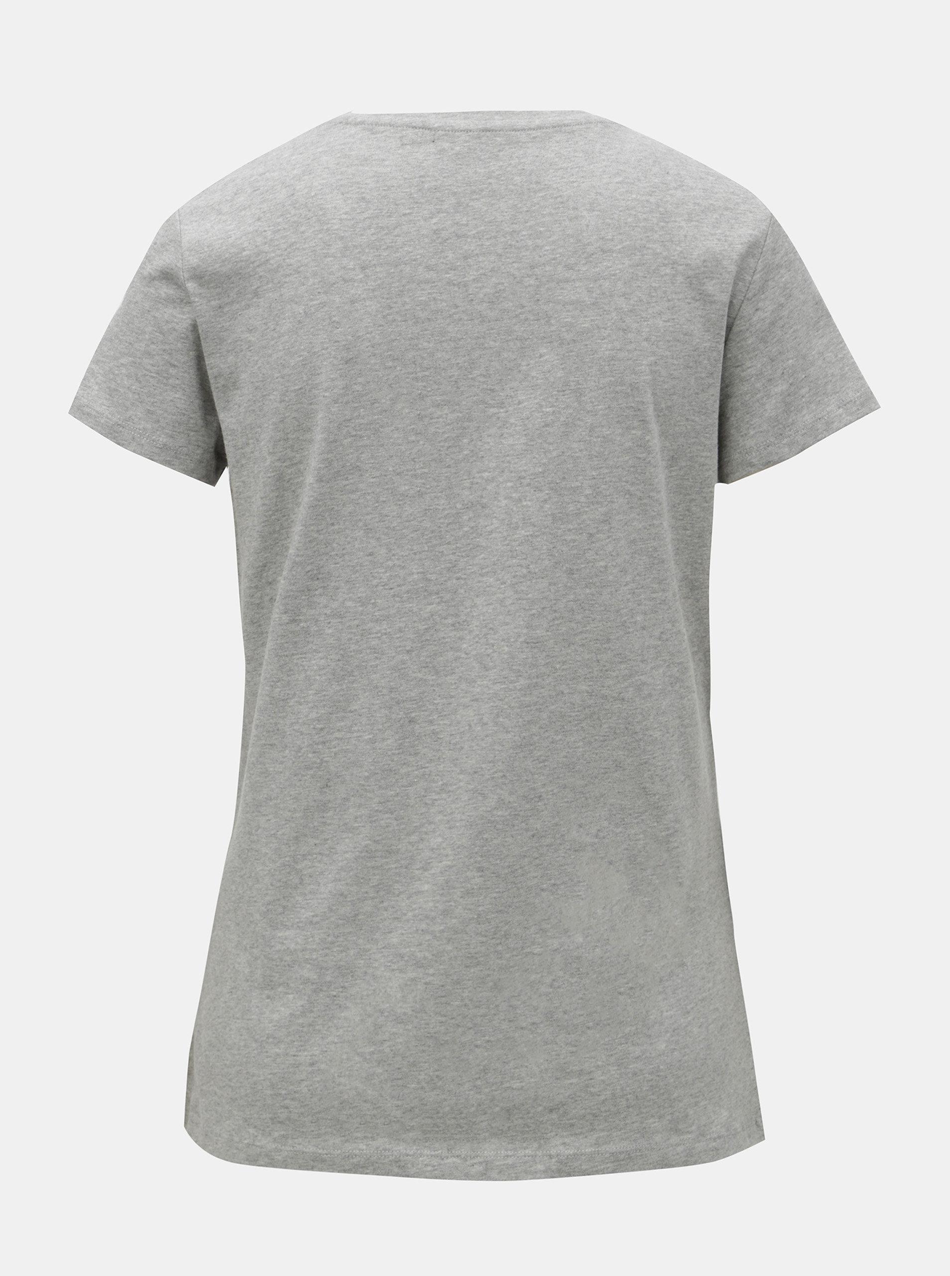 e818f3363 Sivé dámske melírované basic tričko s krátkym rukávom GANT   ZOOT.sk