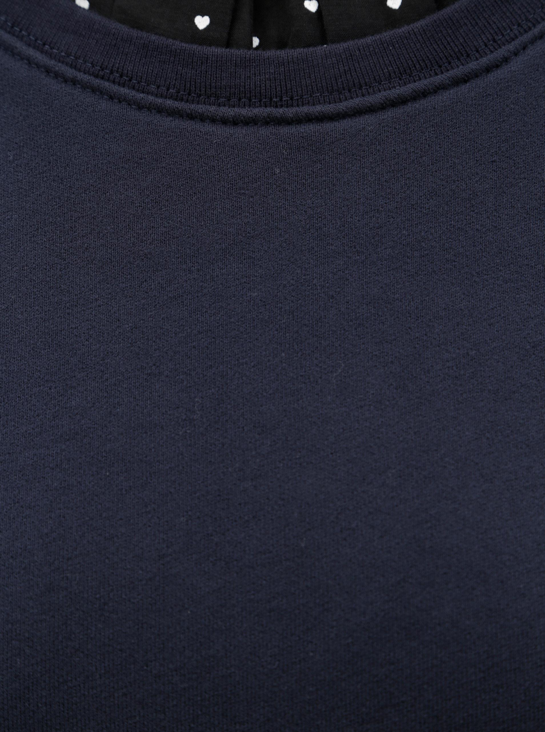 5dcd9fa969f5 Tmavě modré mikinové šaty se stojáčkem Scotch   Soda ...