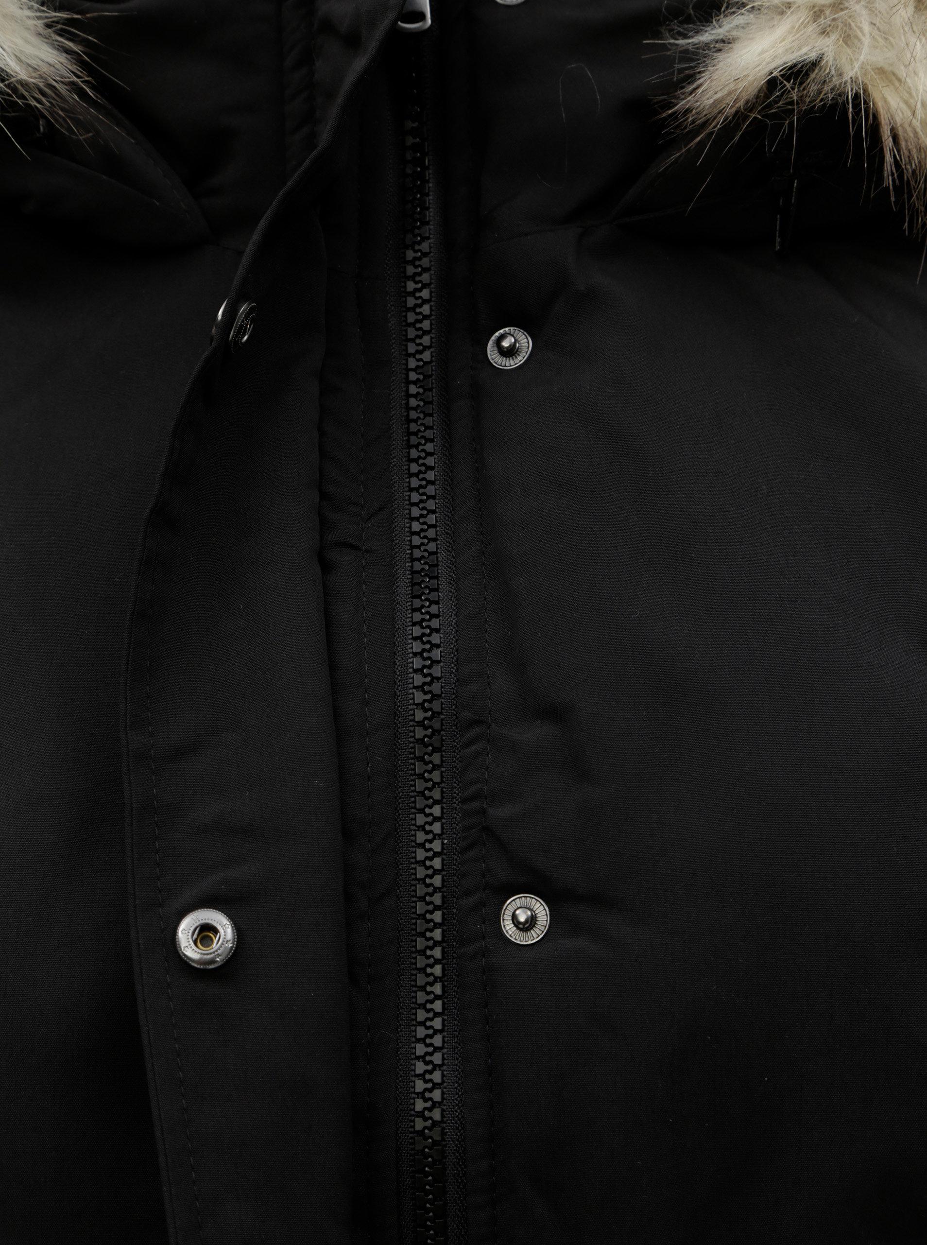 Černá dlouhá zimní bunda Jacqueline de Yong Star