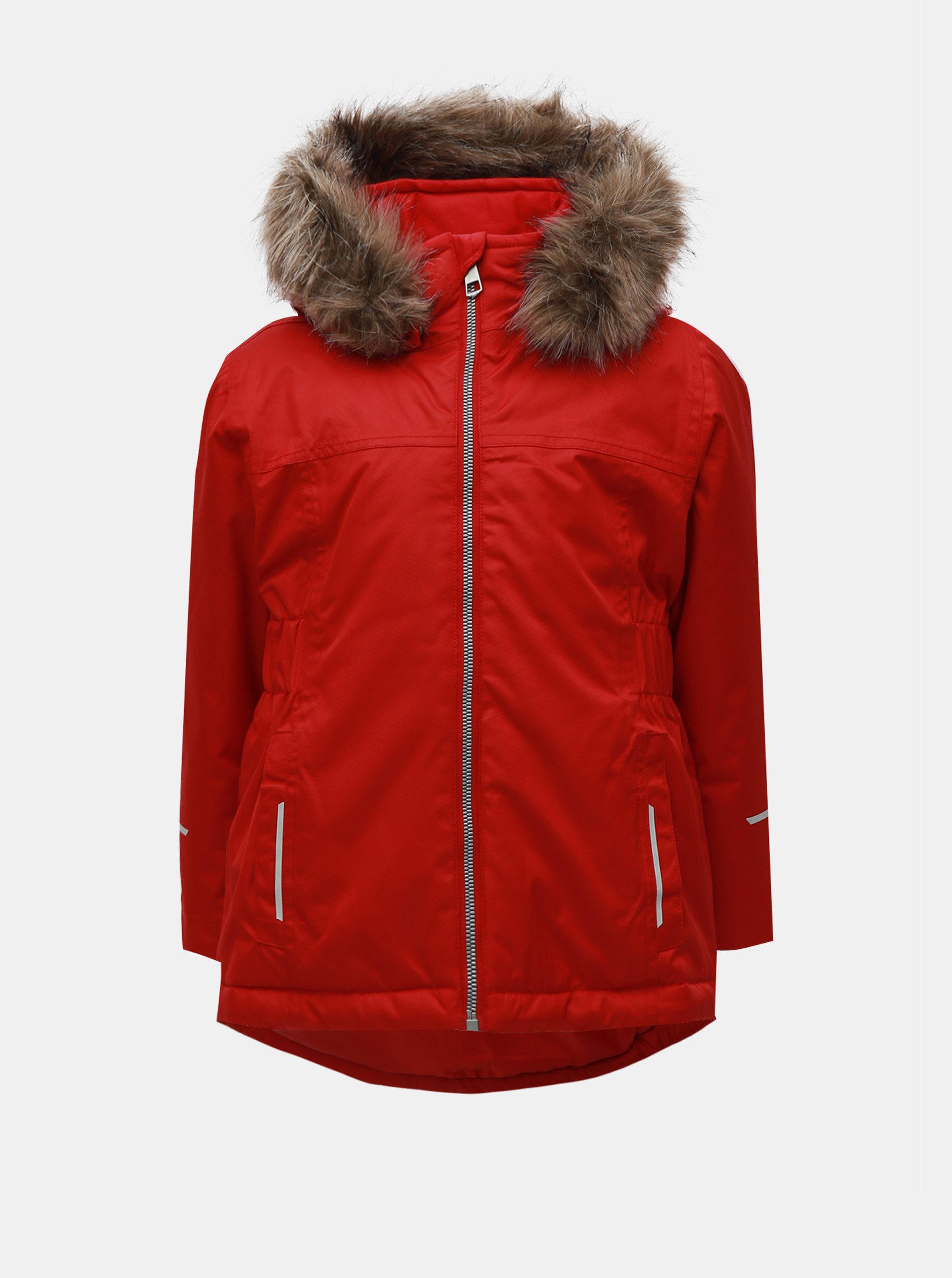 Červená dievčenská funkčná zimná bunda Name it Snow ... 3a2e0b9427b