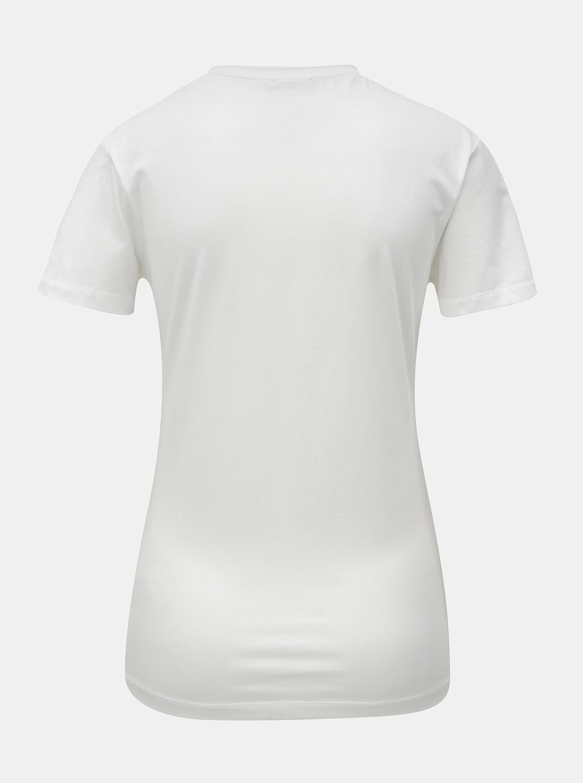 Bílé dámské tričko s potiskem Calvin Klein Jeans ... 7d21177590