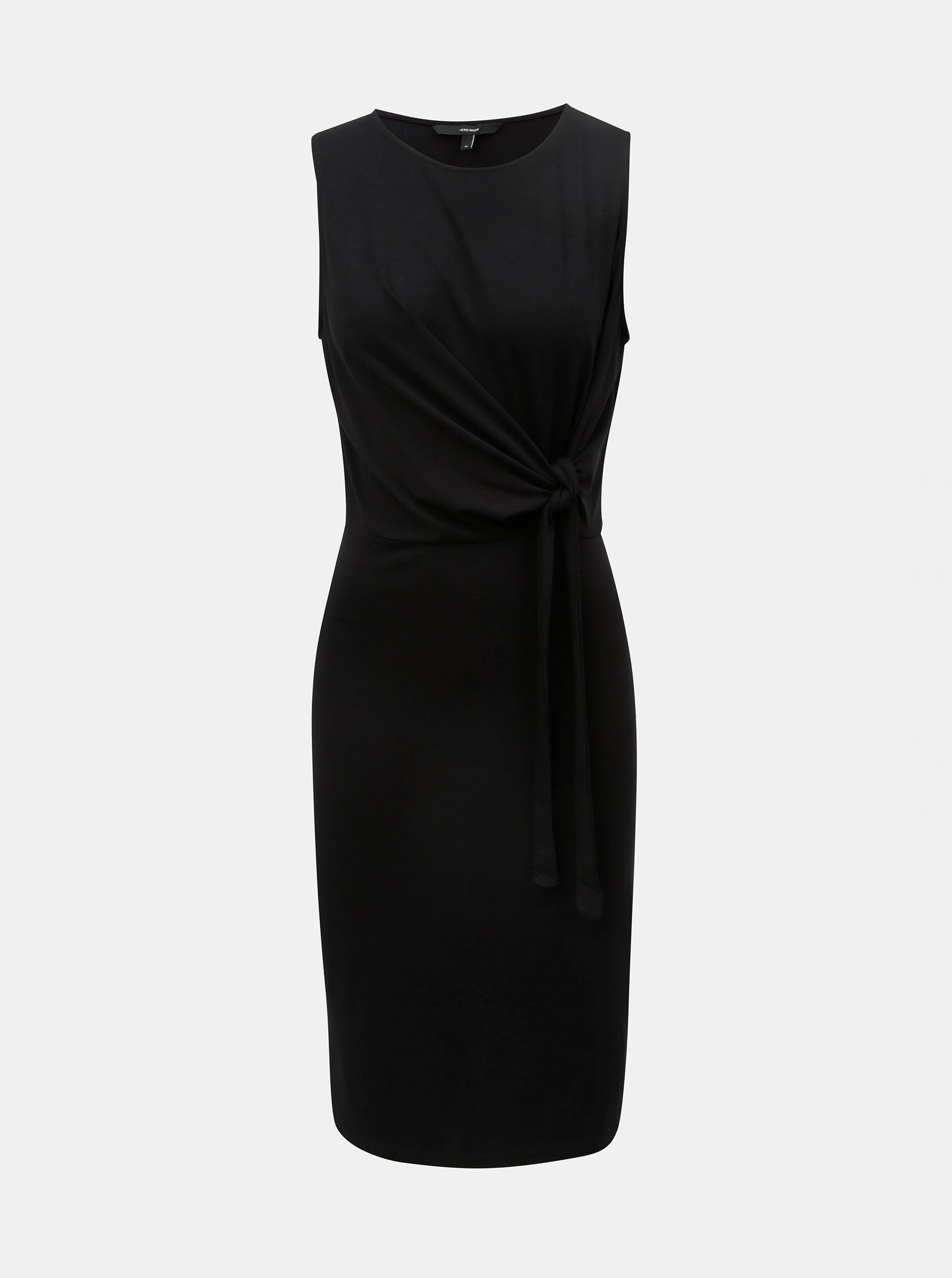 92ef61d7135 Černé šaty s uzlem VERO MODA Louisa ...