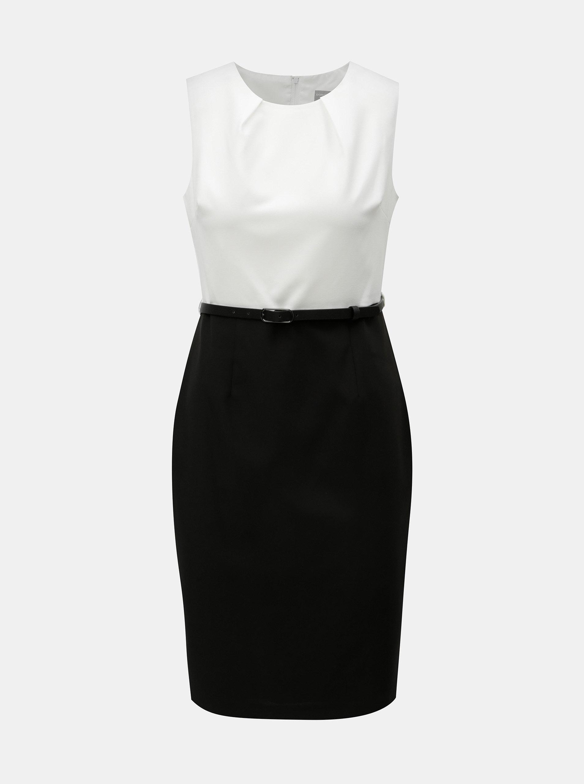 Bielo-čierne puzdrové šaty s odnímateľným opaskom Dorothy Perkins Petite ... c8f7753e03f