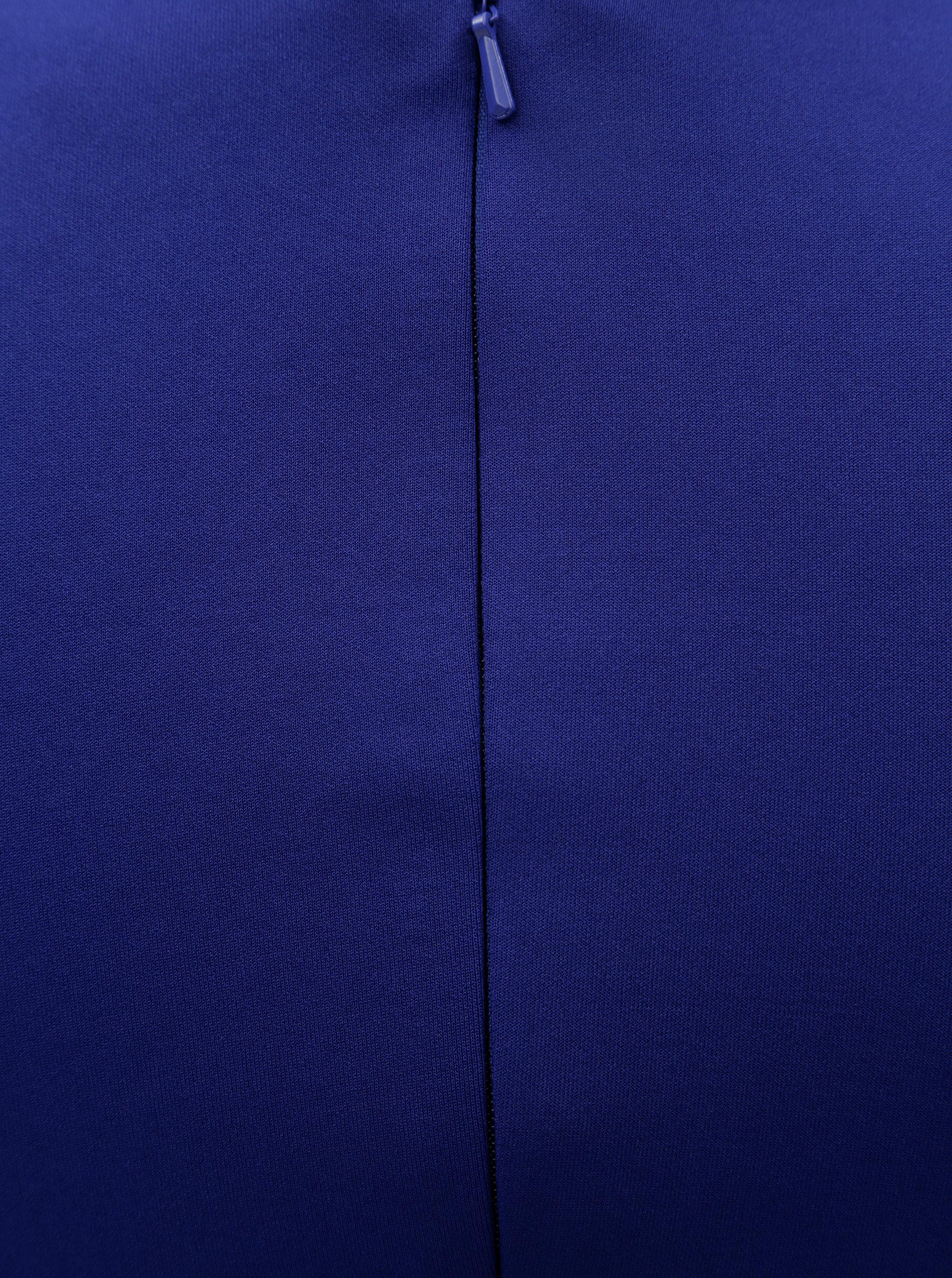 Modré puzdrové šaty so zberkaním na boku Scarlett B ... d95bba1dffe