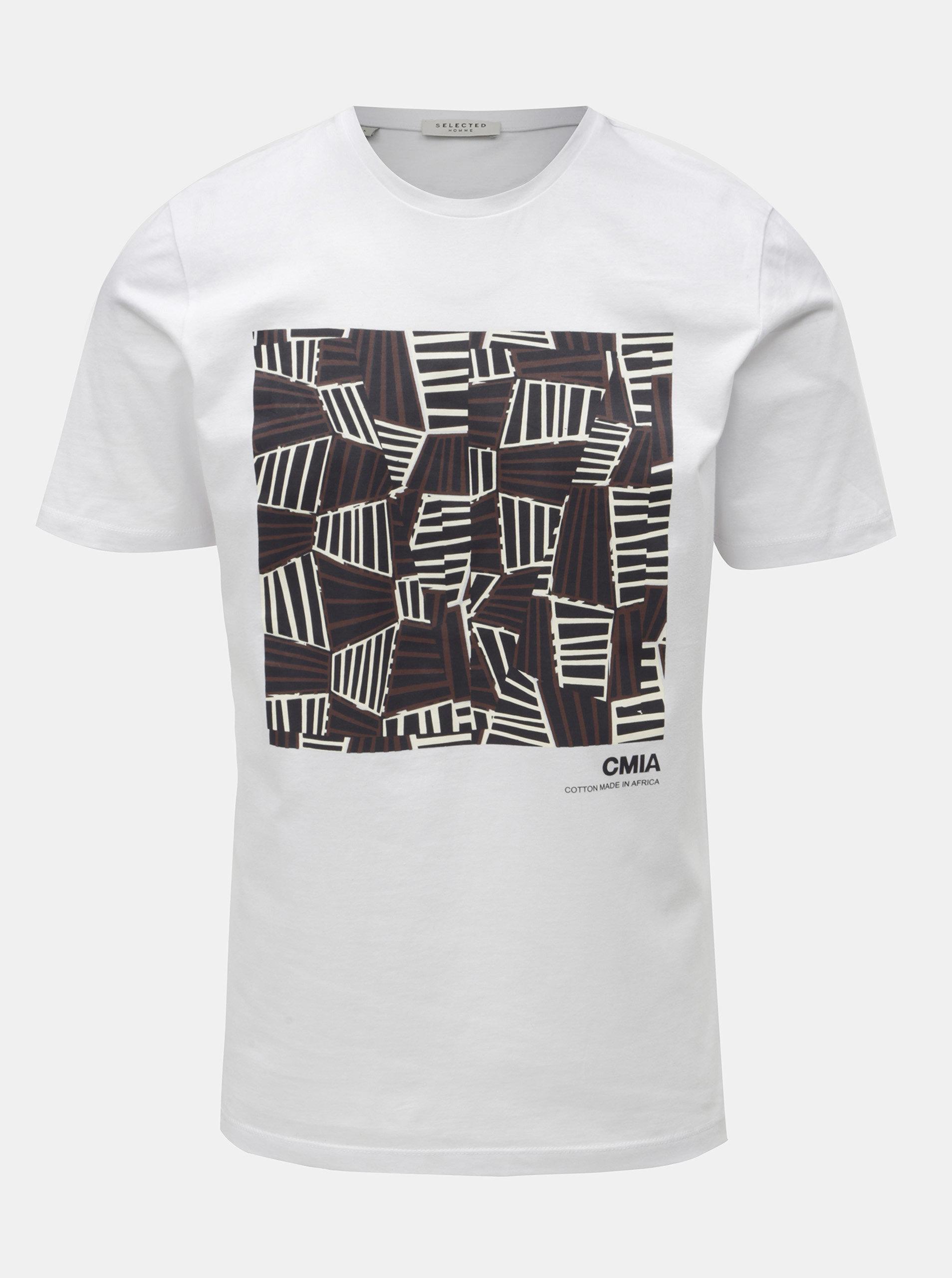 dcbccba38b74 Biele tričko s potlačou Selected Homme Grace ...