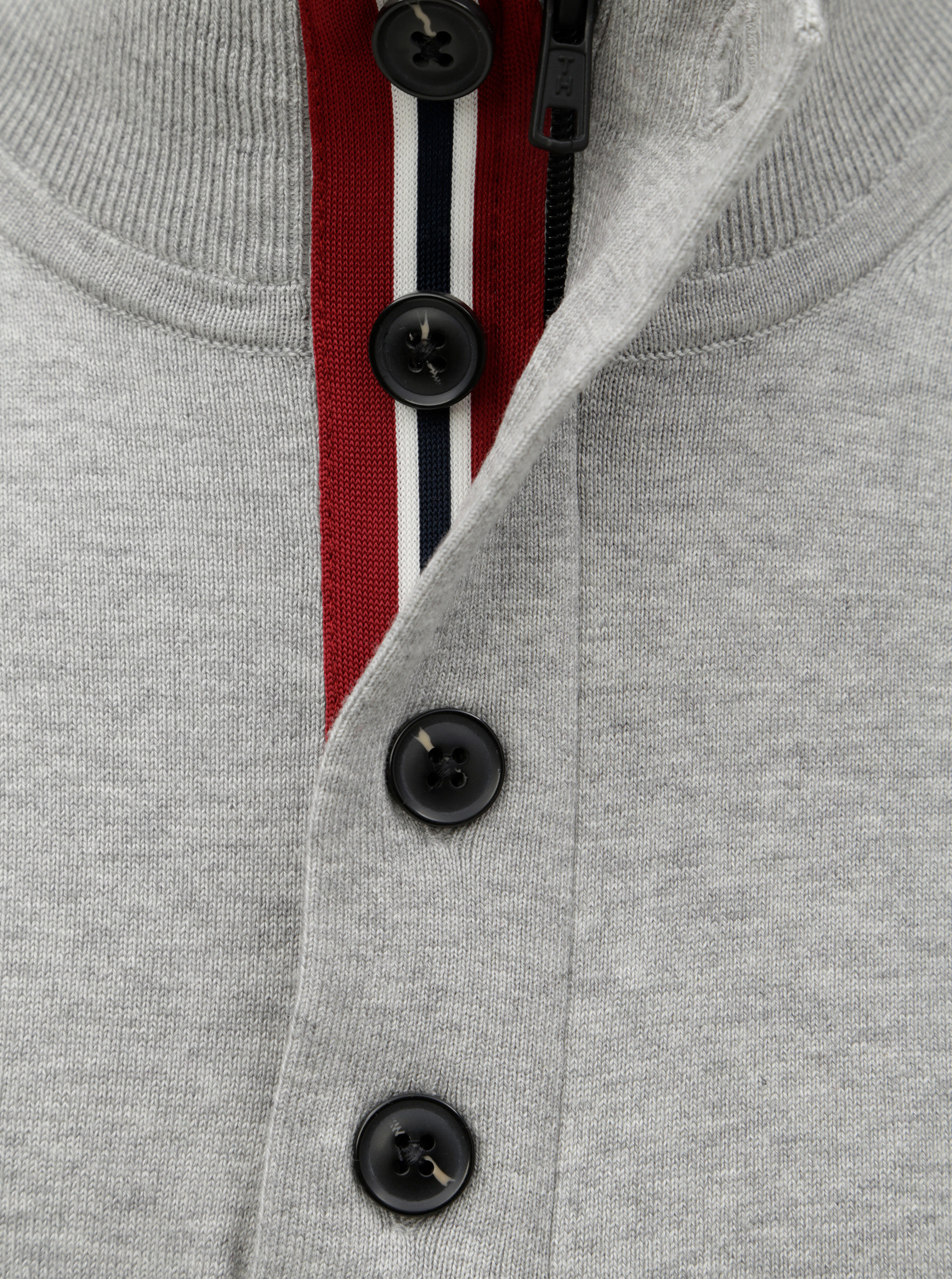 5bc2f20d30a6 Sivý pánsky sveter s prímesou hodvábu Tommy Hilfiger Stripe ...