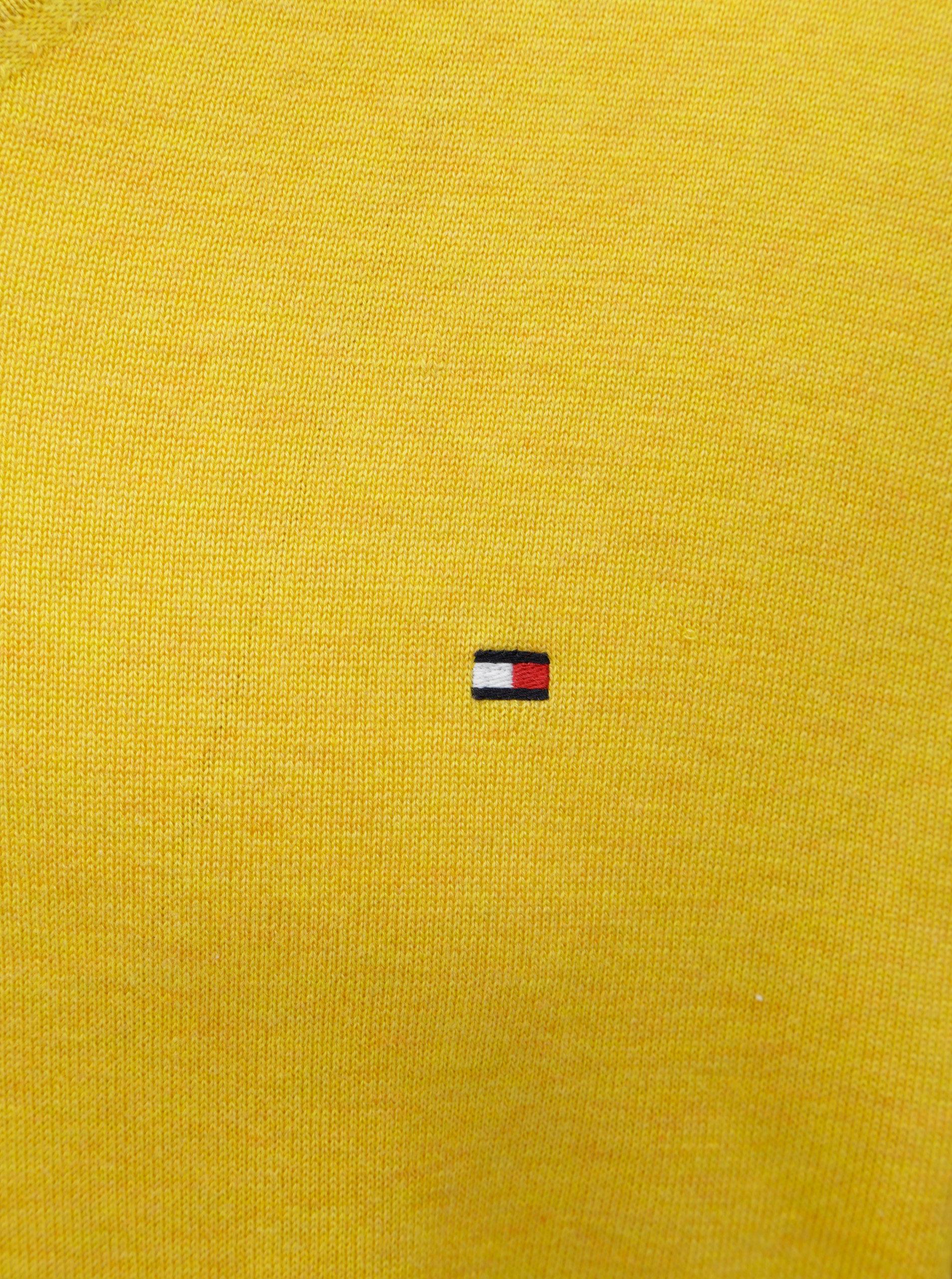 7cdf9c24dd Žltý tenký sveter s prímesou hodvábu Tommy Hilfiger ...