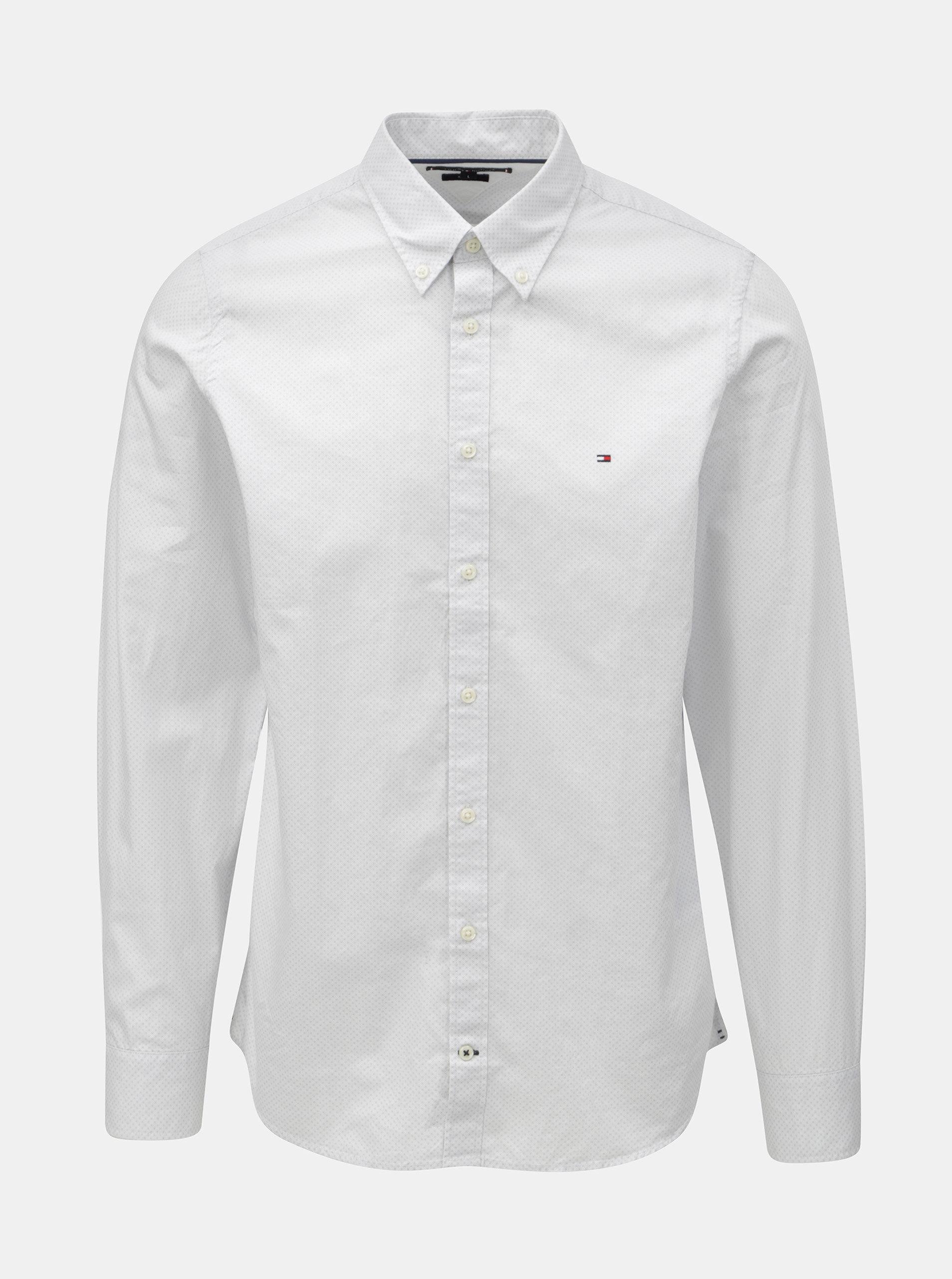 Světle šedá pánská slim fit košile Tommy Hilfiger Diamond ... 9a9c202f19