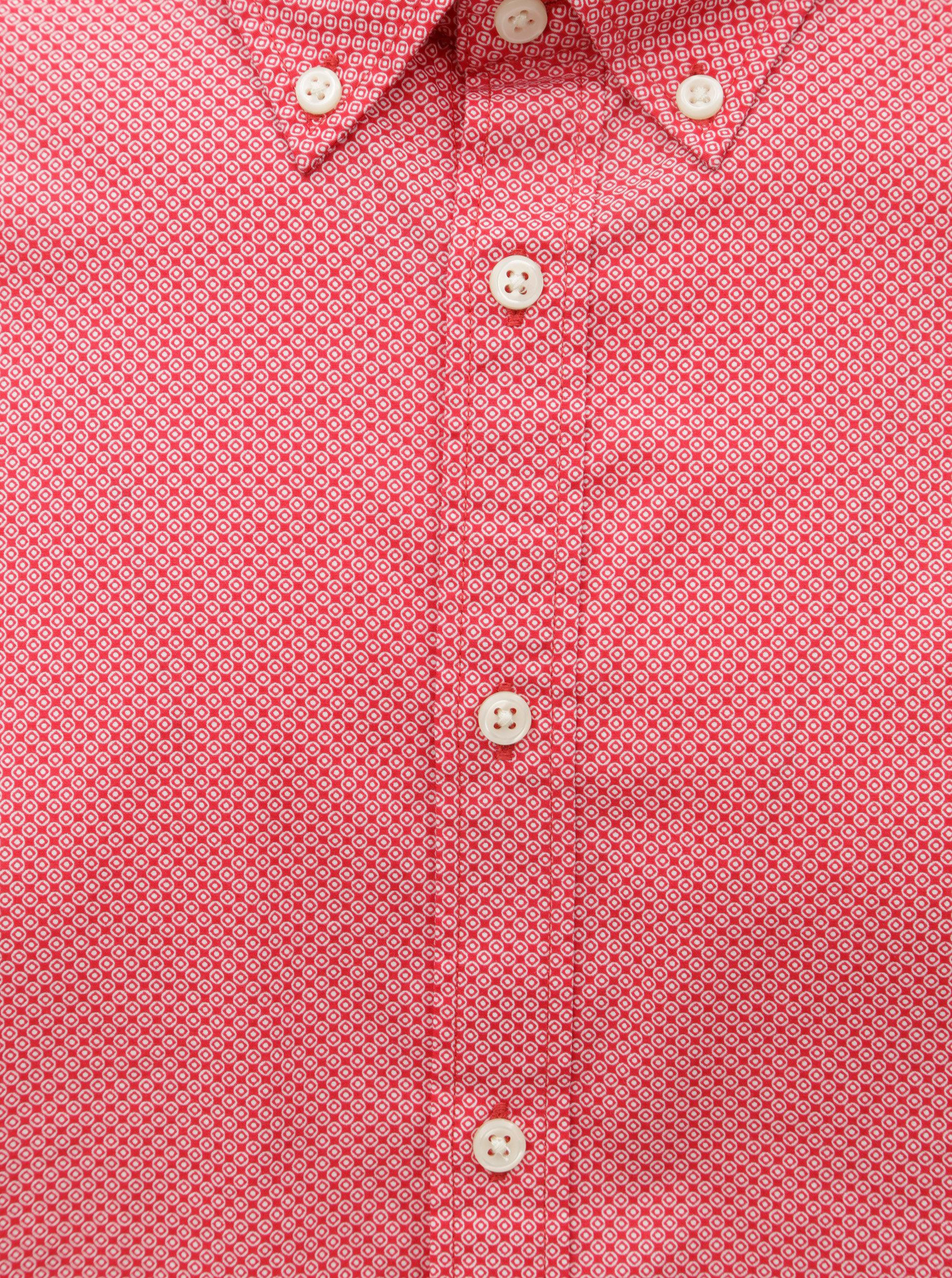 Červená pánska slim fit košeľa Tommy Hilfiger Diamond ... 656da7eb653