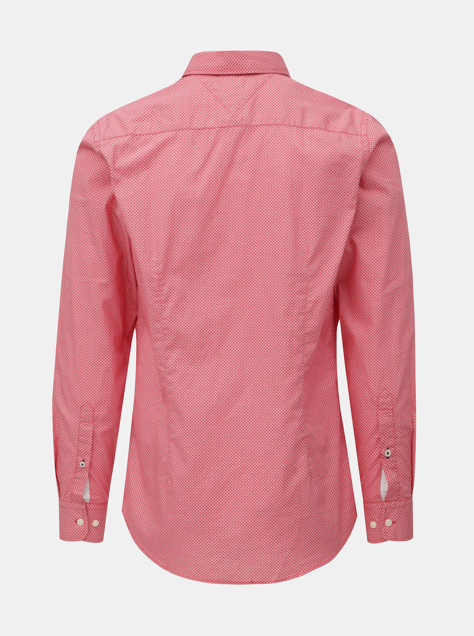 97c848aa43a6 Červená pánska slim fit košeľa Tommy Hilfiger Diamond ...