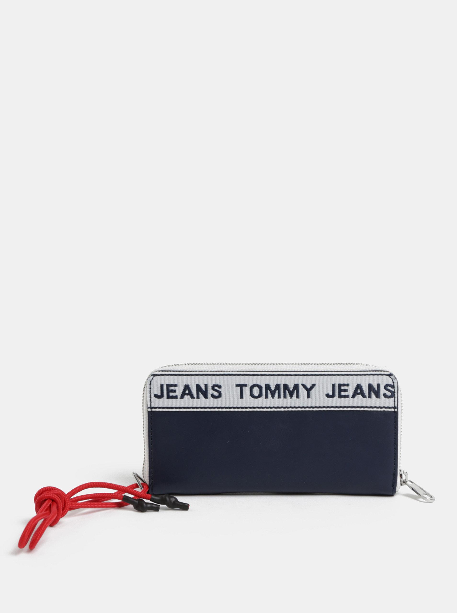 900ae53154a Tmavě modrá dámská peněženka s logem Tommy Hilfiger Tape ...