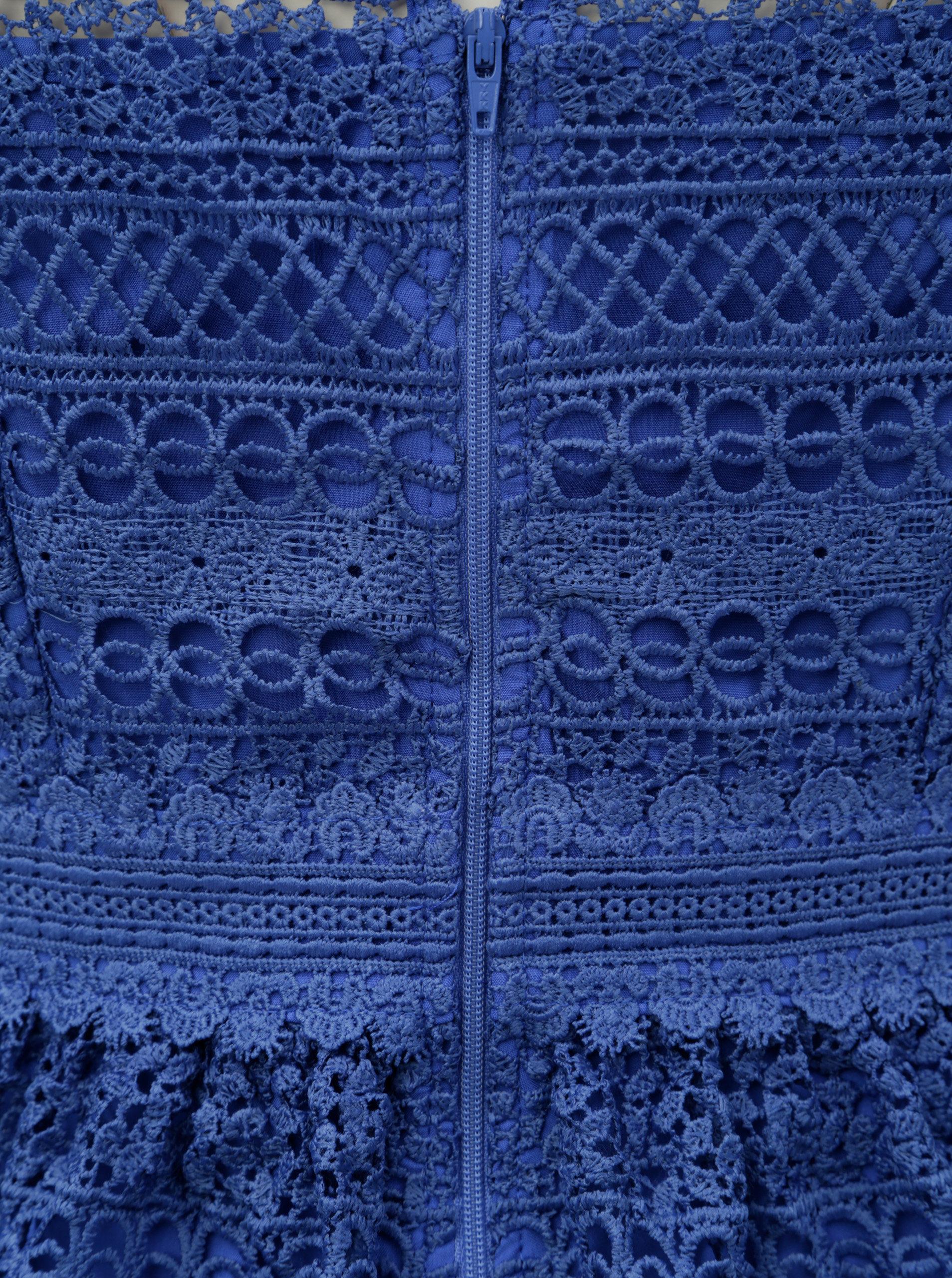 Modré krajkové šaty Little Mistress ... e1186258e7c