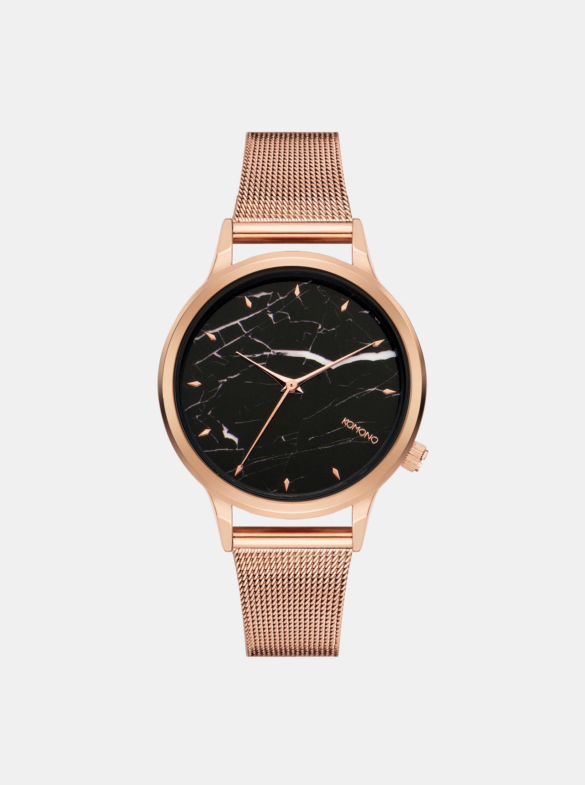 Dámske hodinky s remienkom v ružovozlatej farbe a mramorovaným ciferníkom  Komono Lexi Royale Marble ... 3153c26012d