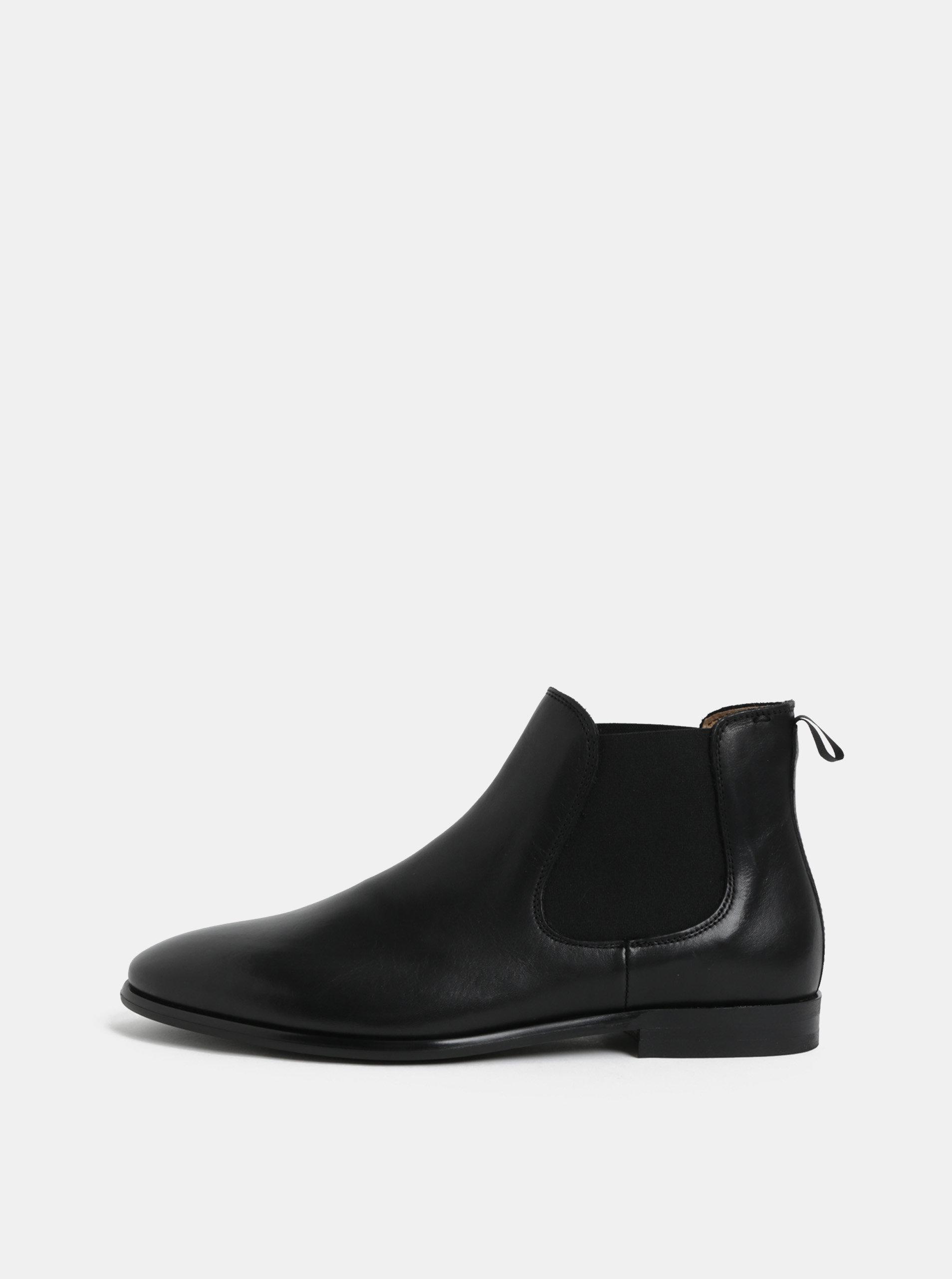 1e9e2590ef Čierne pánske kožené chelsea topánky ALDO ...